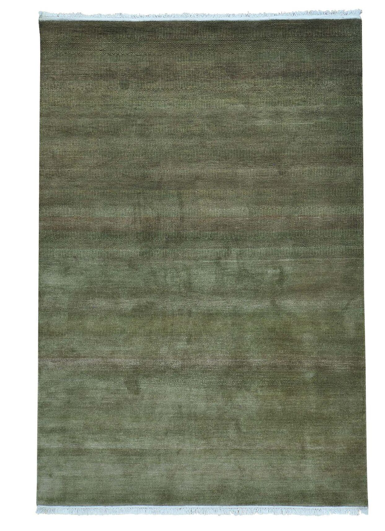 One-of-a-Kind Tasia Suzani Hand-Knotted Light Green/Taupe Area Rug
