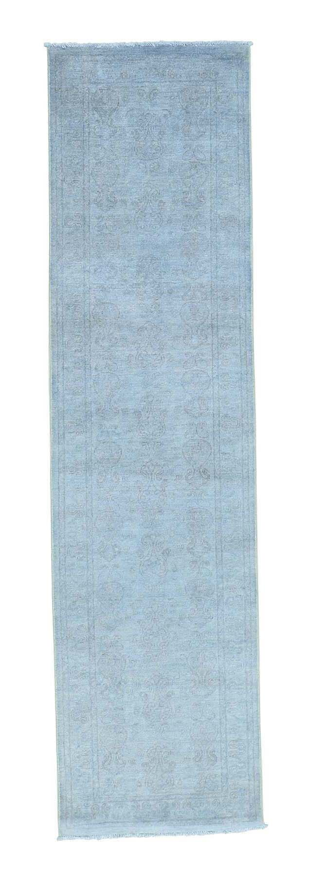 One-of-a-Kind Le Sirenuse Hand-Knotted Silver Blue Area Rug