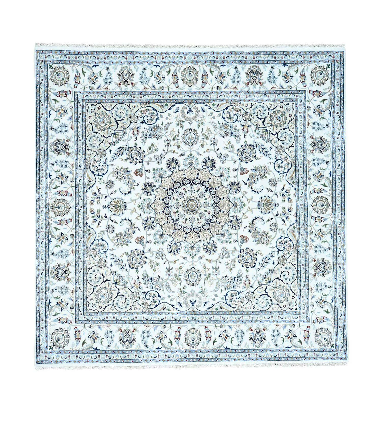 250 Kpsi Nain Hand-Knotted Ivory Area Rug