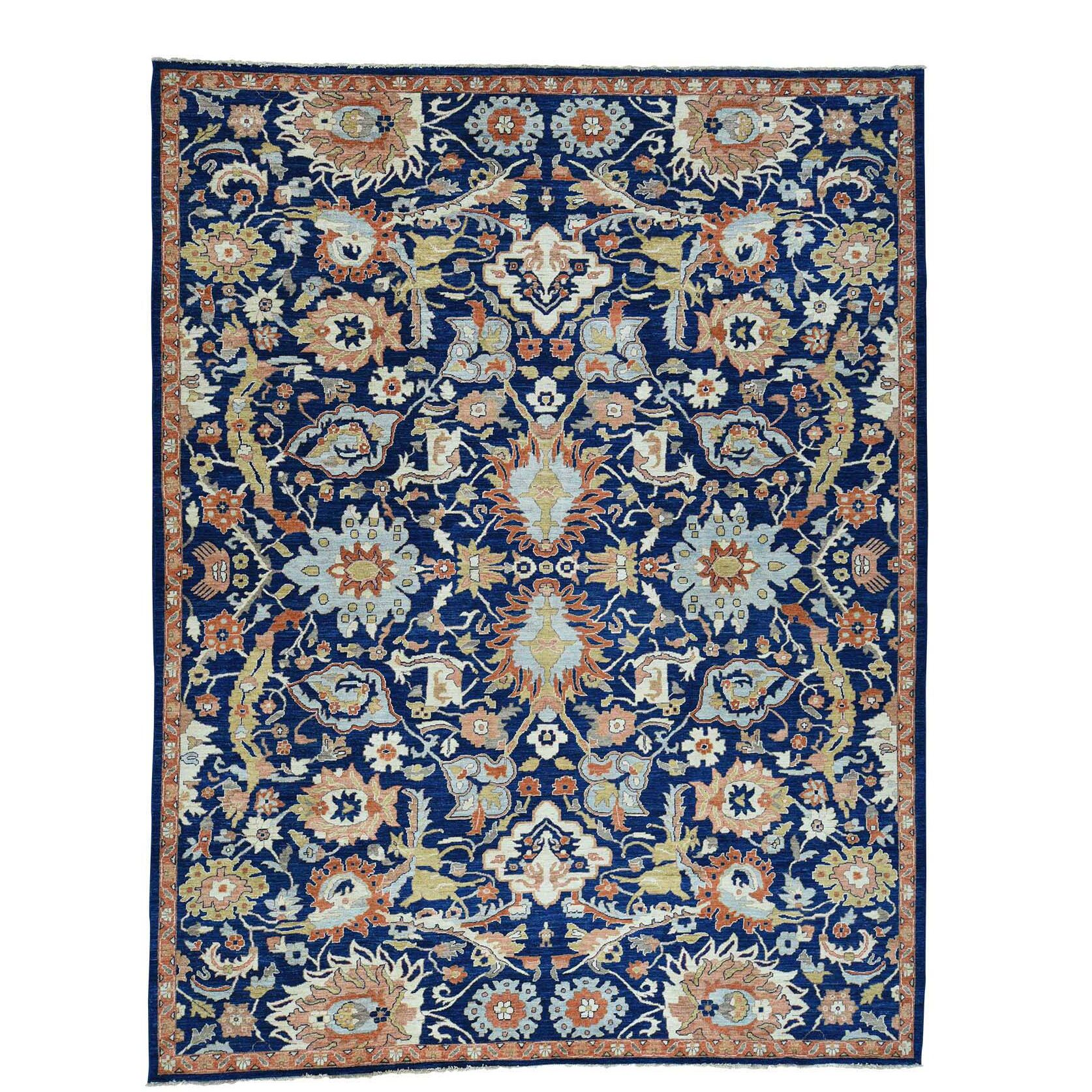 One-of-a-Kind Kells-Connor Hand-Knotted Navy Blue/Brown Area Rug