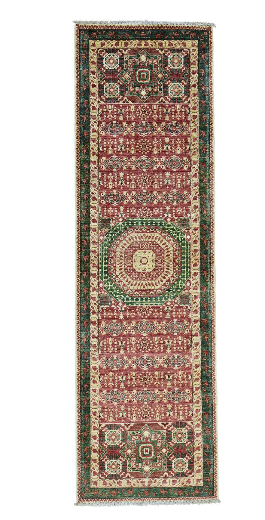 One-of-a-Kind Grasser Vintage Overdyed Hand-Knotted Red Area Rug