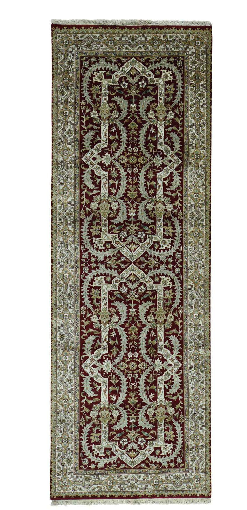 One-of-a-Kind Rudolph New Zealand Hand-Knotted Red Area Rug