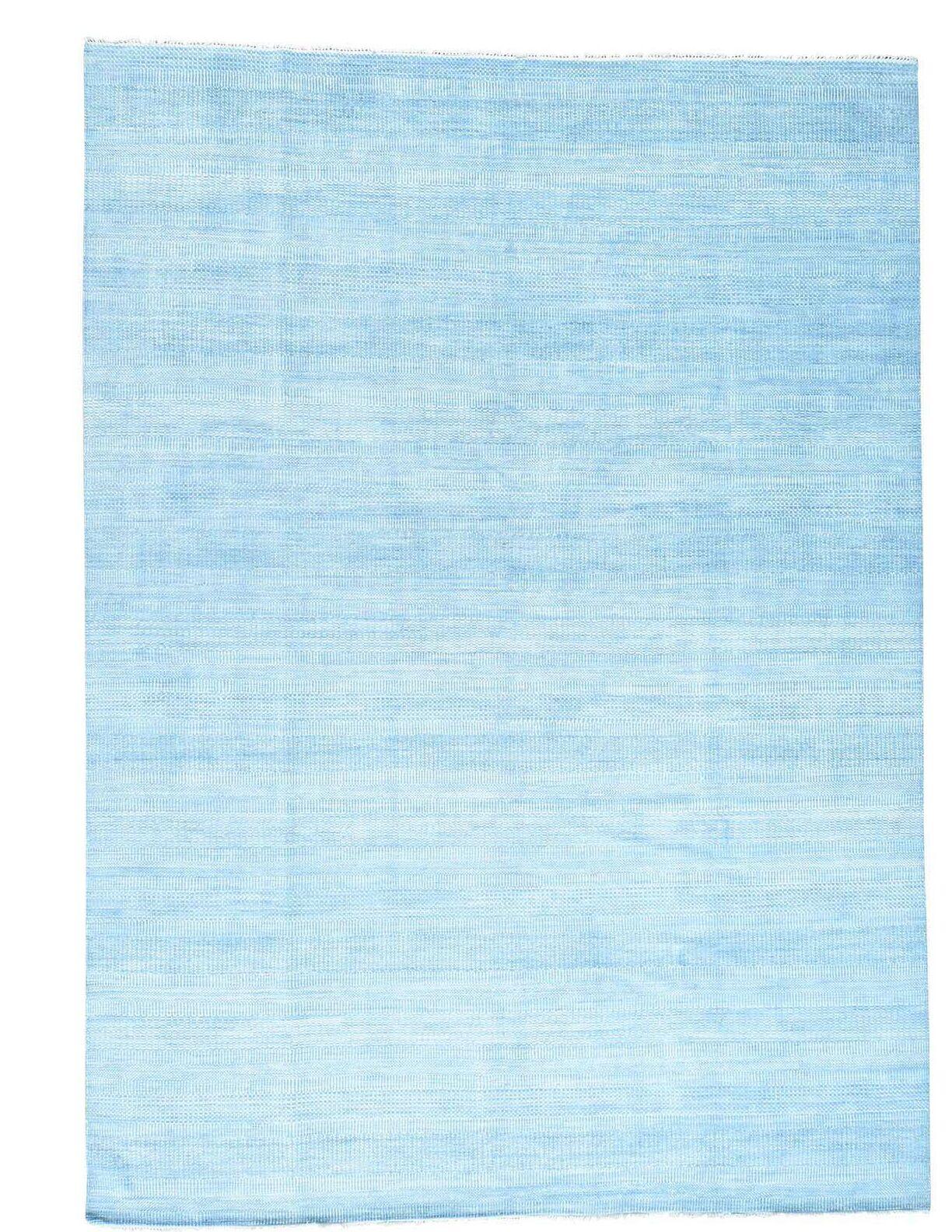 One-of-a-Kind Tanessa Hand-Knotted Sky Blue Area Rug