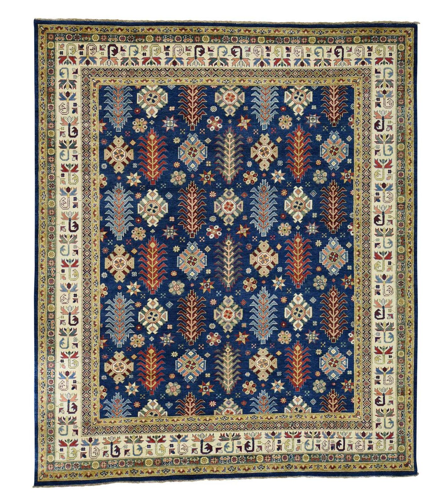 One-of-a-Kind Tillman Special Hand-Knotted Navy Blue Area Rug