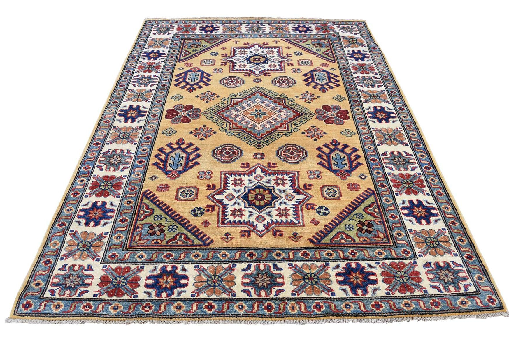 One-of-a-Kind Tillman Special Hand-Knotted Gold Area Rug