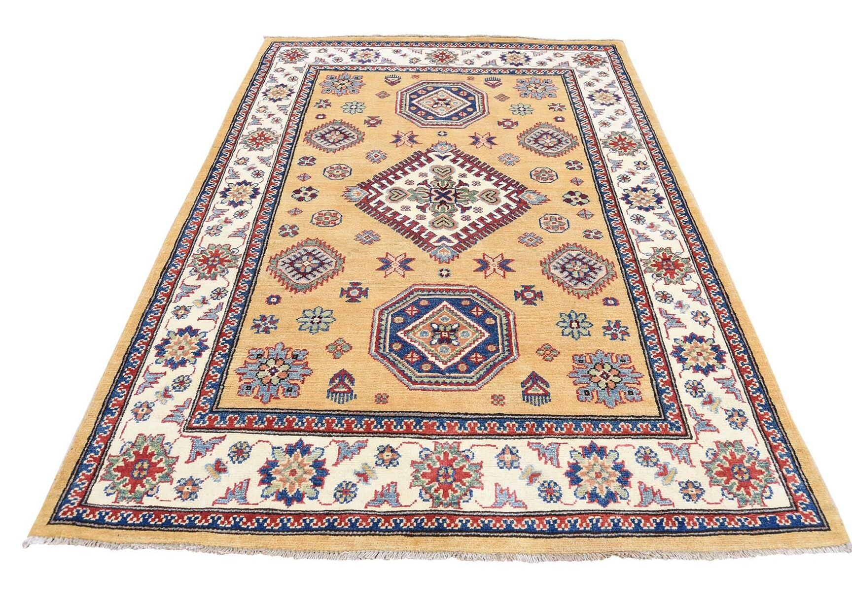 One-of-a-Kind Tillman Special Hand-Knotted Yellow Area Rug