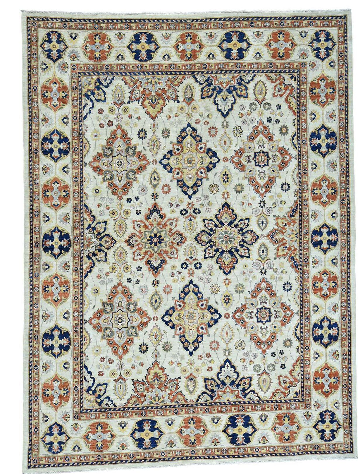 One-of-a-Kind Le Sirenuse Hand-Knotted Ivory Area Rug
