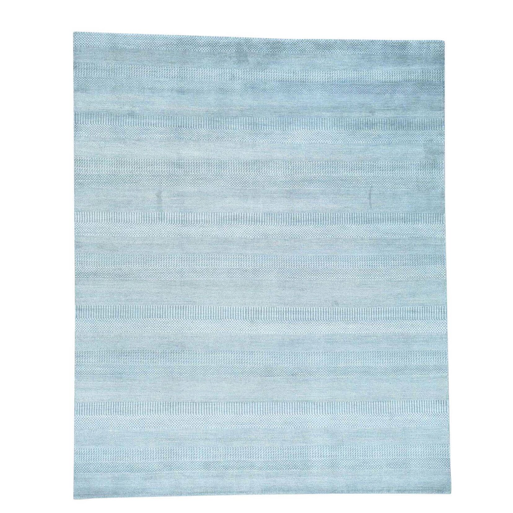 Grass Hand-Knotted Blue Area Rug