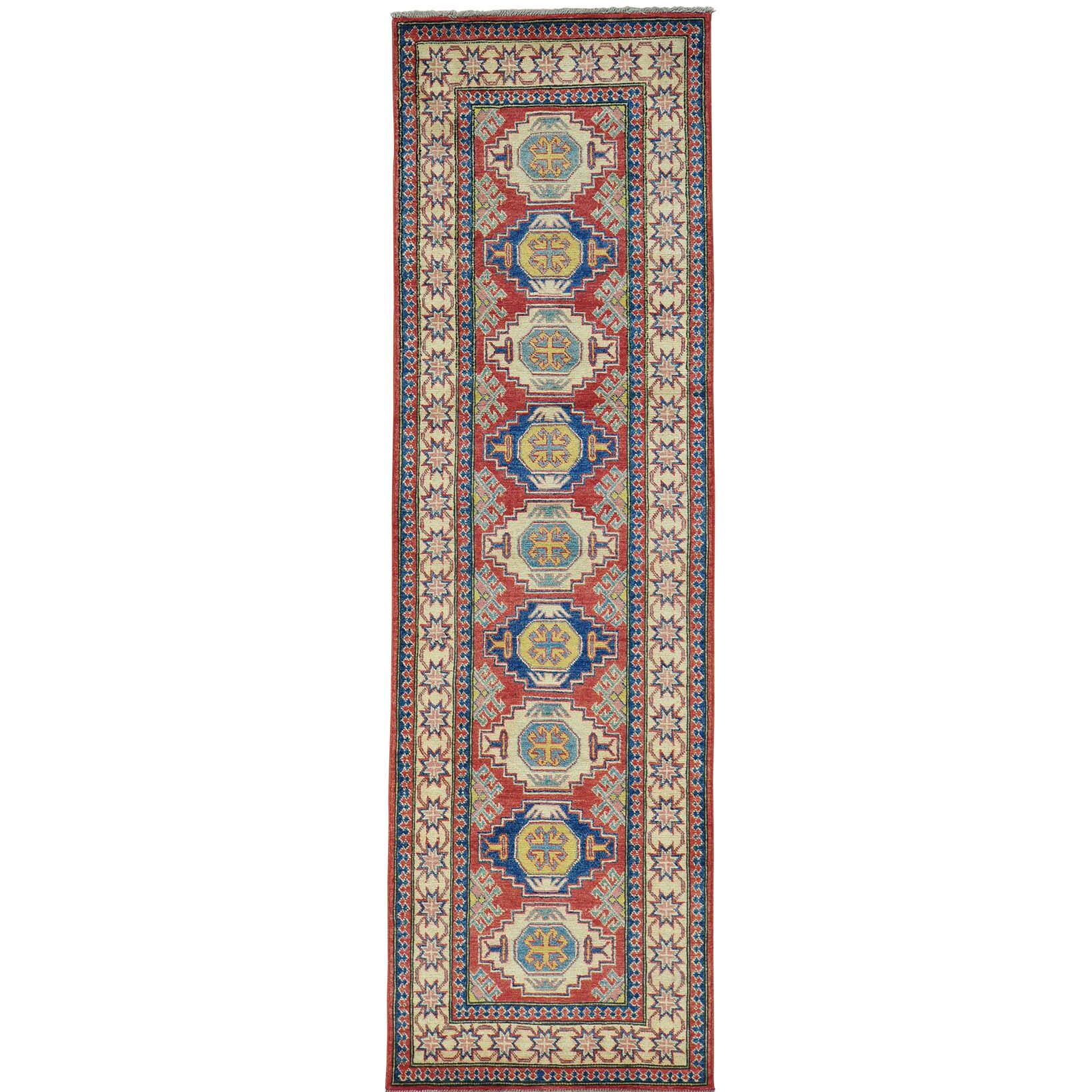 One-of-a-Kind Leela Hand-Knotted Red Area Rug