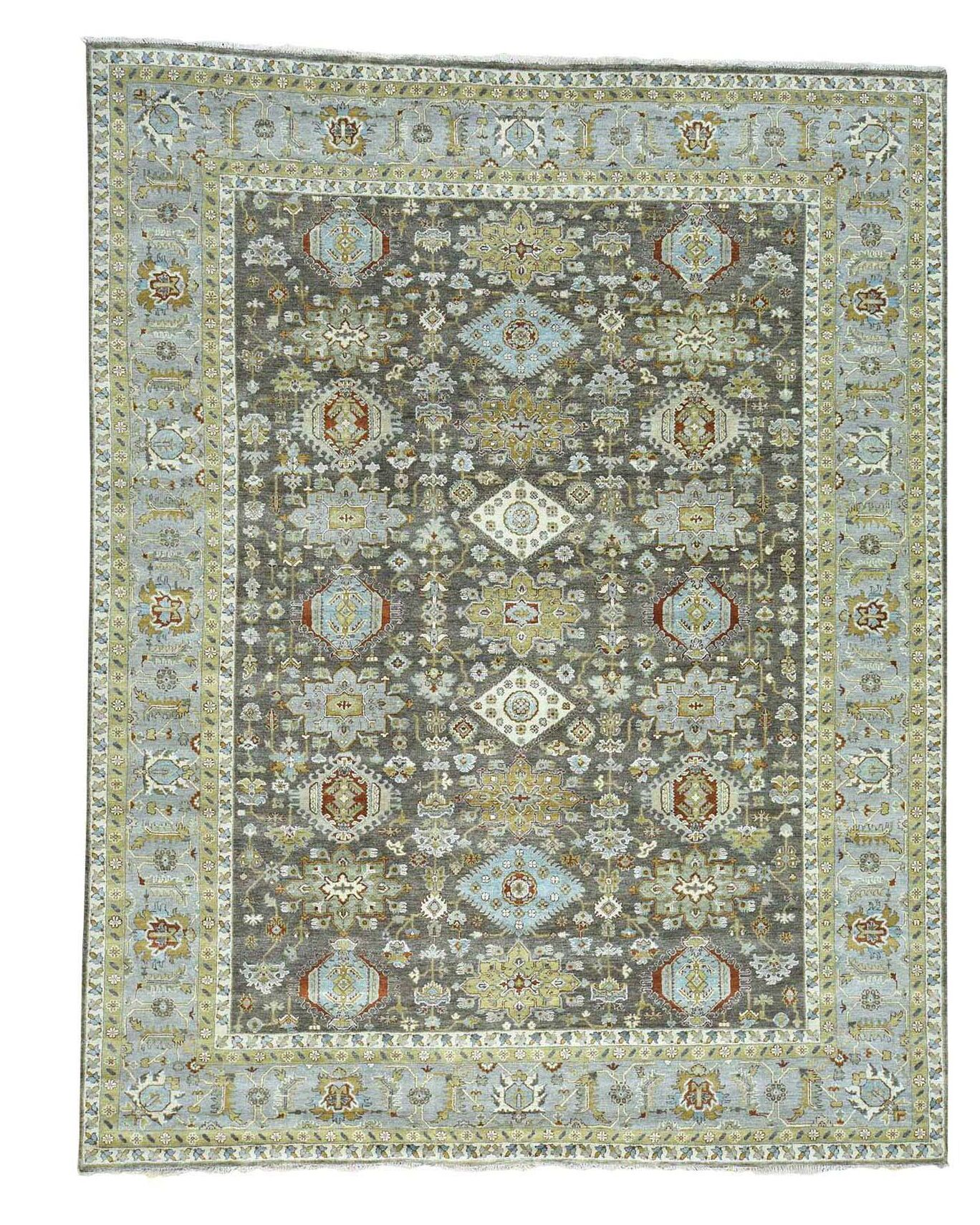 One-of-a-Kind Leafwood Hand-Knotted Chocolate Brown Area Rug