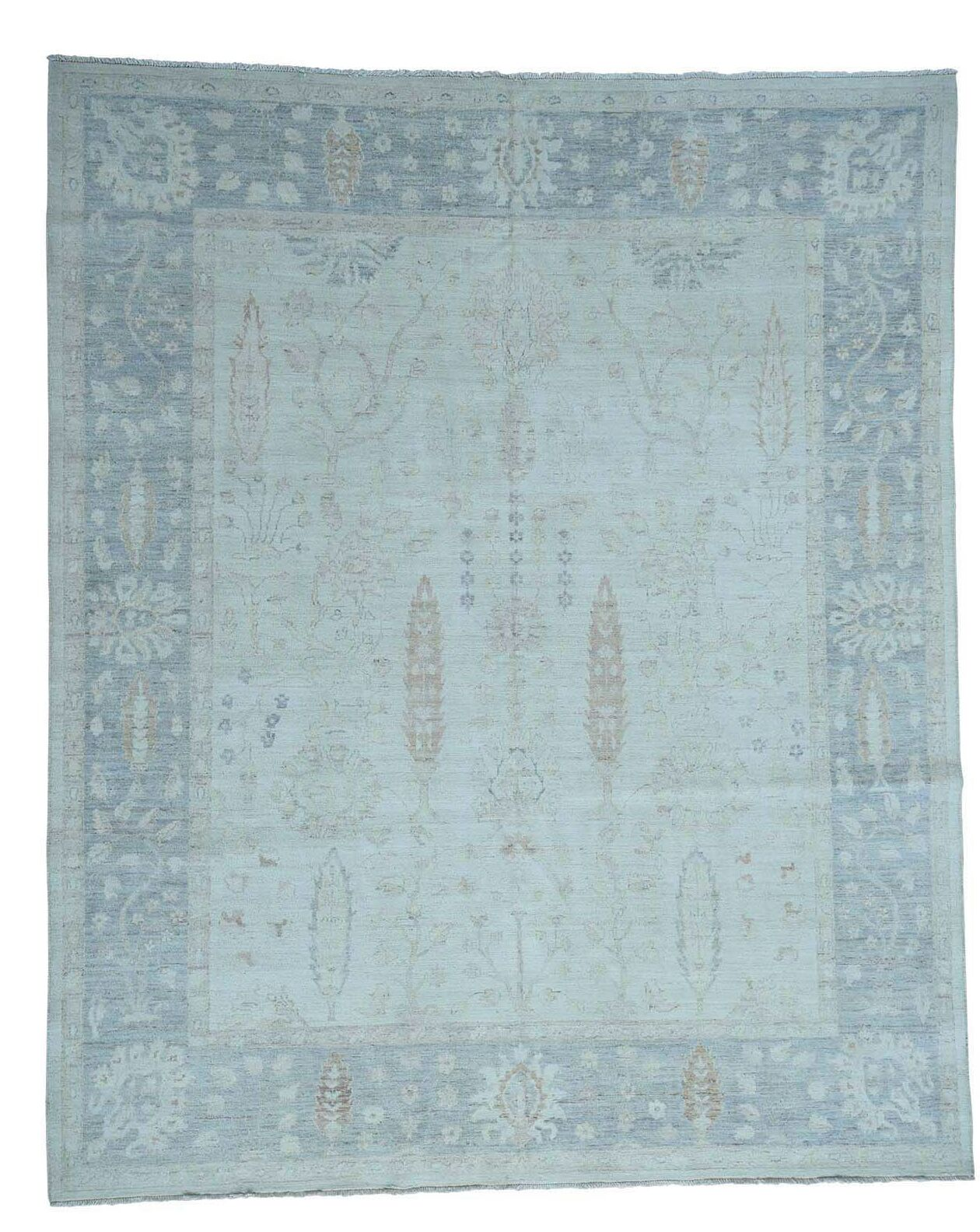 One-of-a-Kind Ebersole Oriental Hand-Knotted Wool Ivory Area Rug