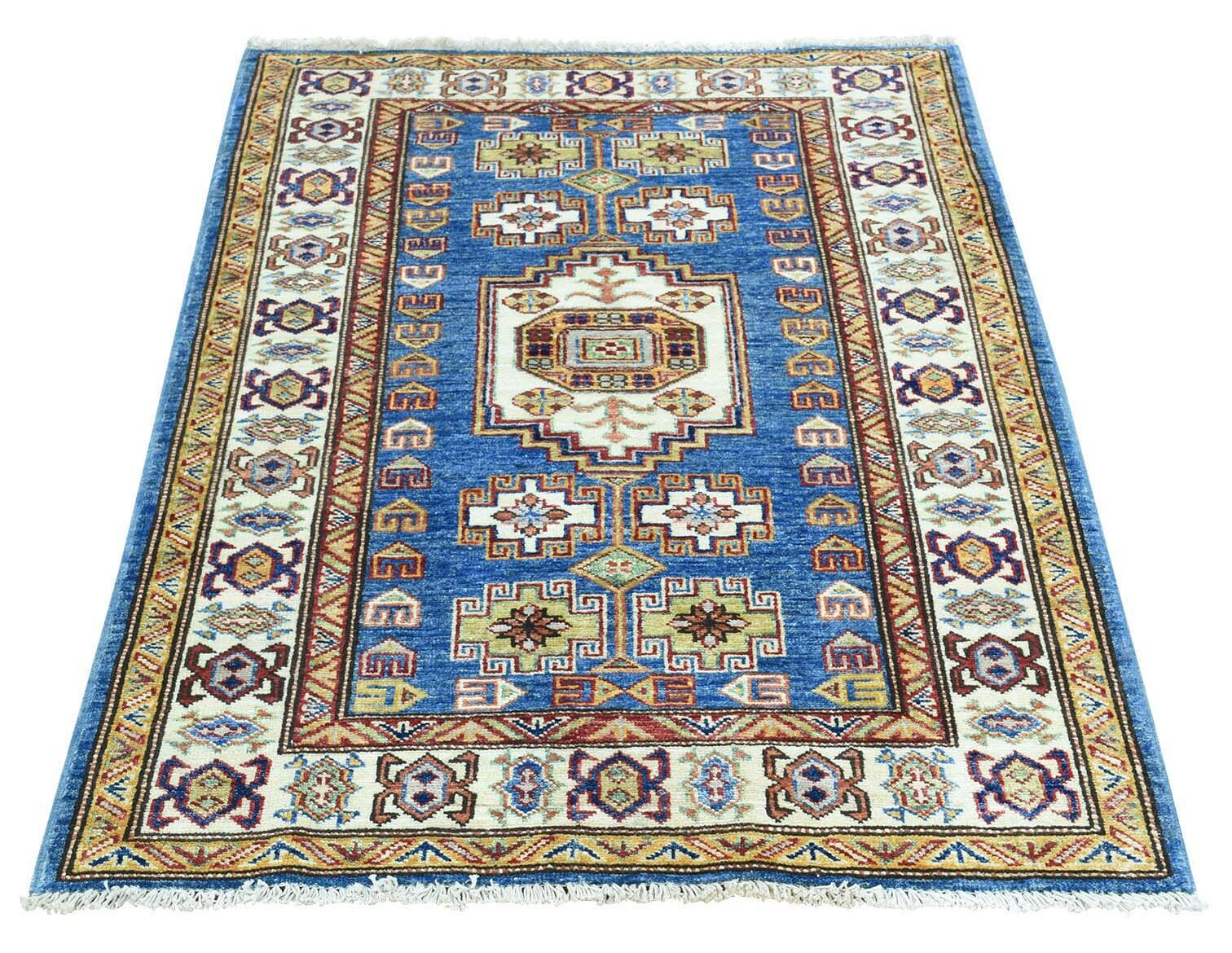 One-of-a-Kind Tillett Super Hand-Knotted Denim Blue Area Rug