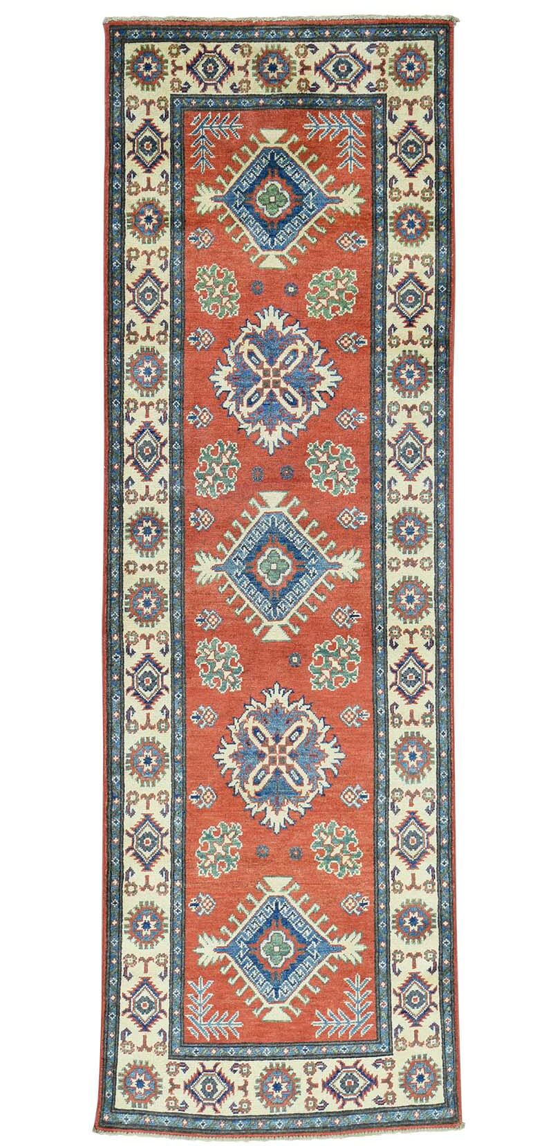One-of-a-Kind Kempinski Overdyed Barjasta Vintage Hand-Knotted Red/Navy Blue Area Rug