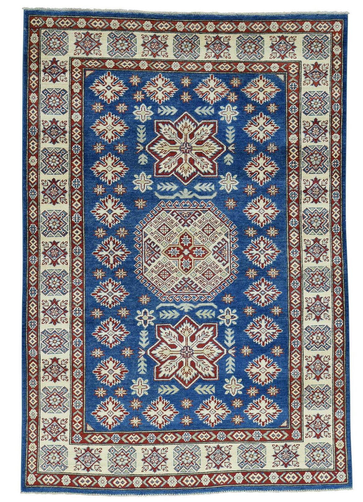 One-of-a-Kind Tillotson Hand-Knotted Navy Blue/Ivory Area Rug