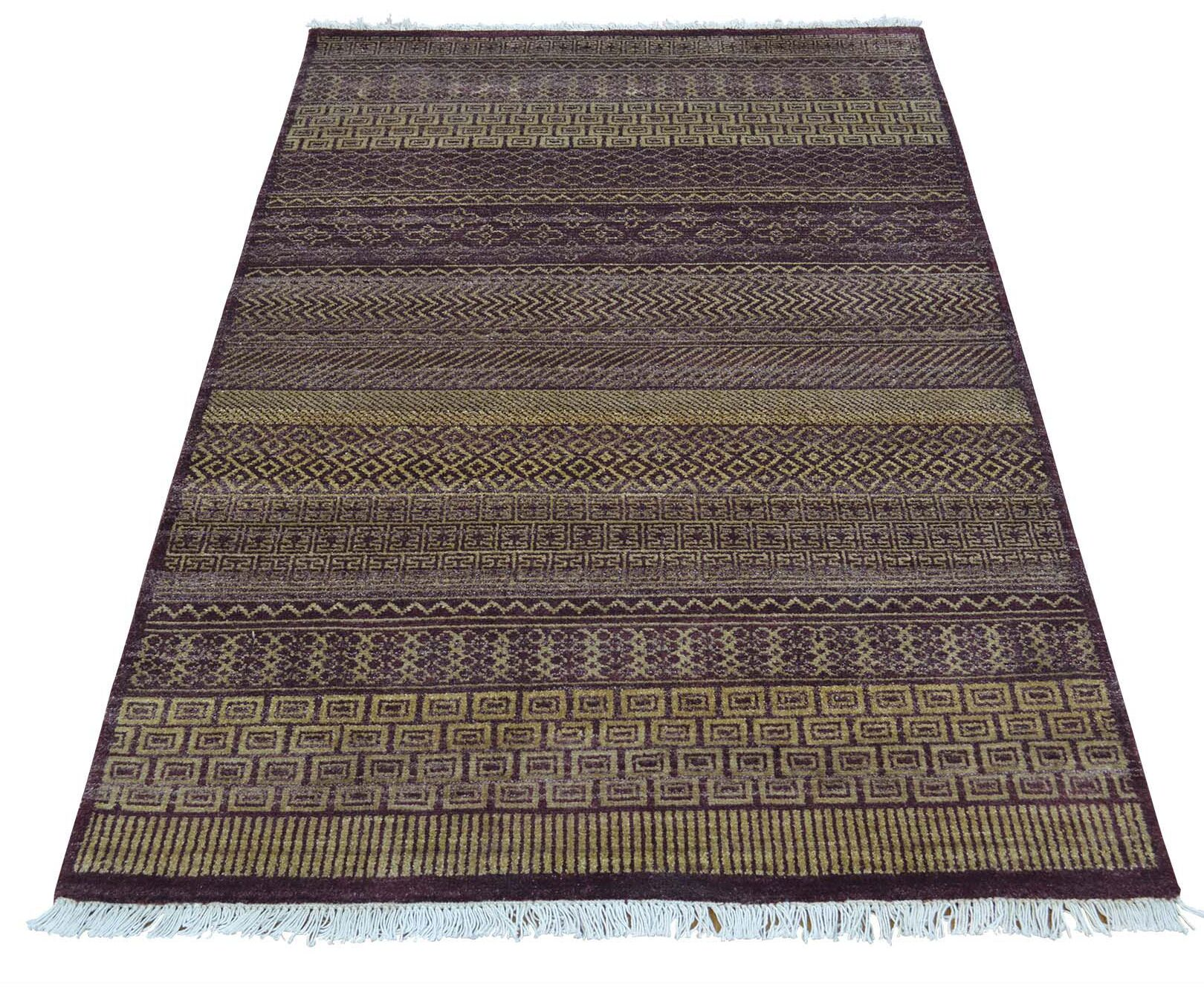 One-of-a-Kind Rothermel Modern Burgundy Hand-Knotted Red Area Rug