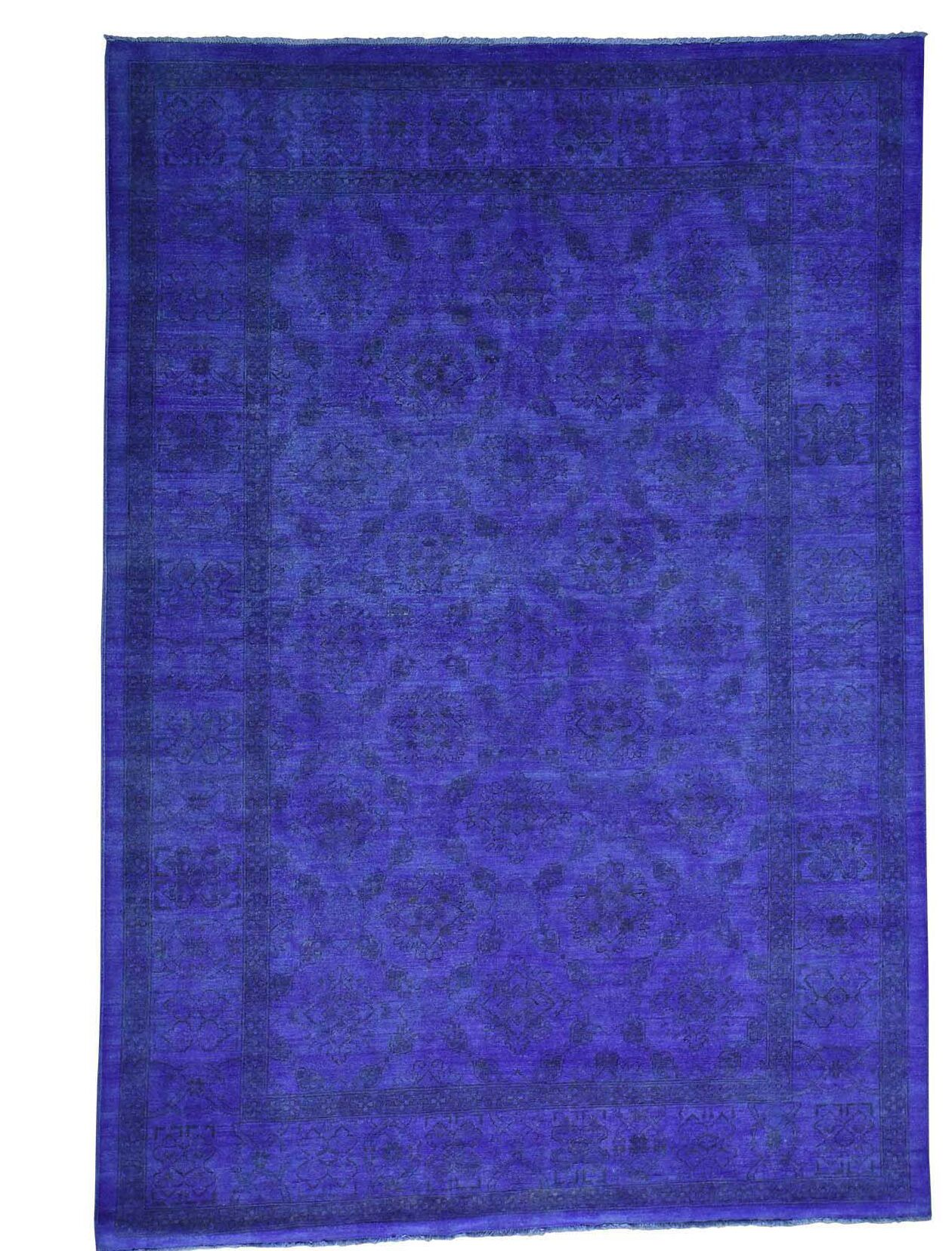 One-of-a-Kind Melodi Overdyed Hand-Knotted Blue Area Rug