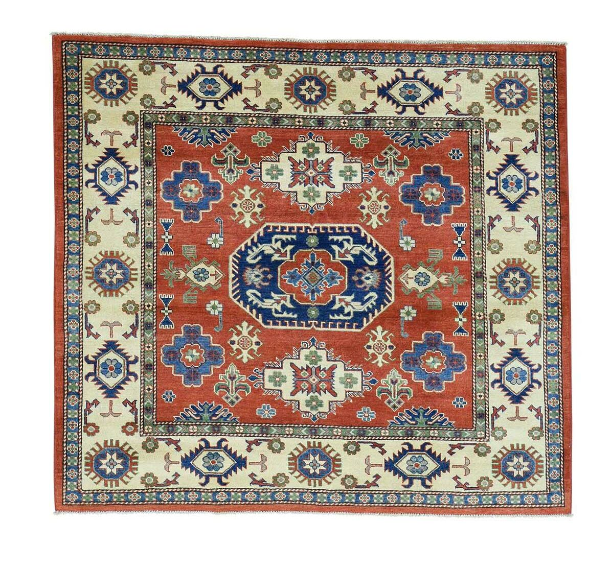 One-of-a-Kind Tilomar Hand-Knotted Red Area Rug