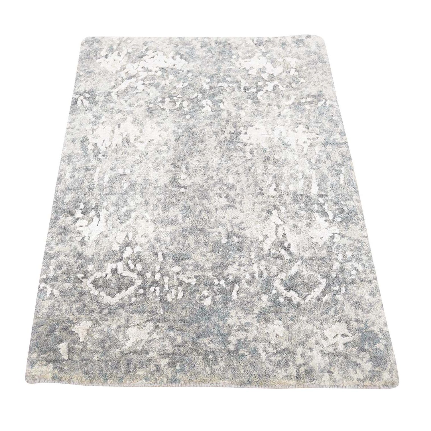 One-of-a-Kind Eddyville Hi-Lo Hand-Knotted Taupe Area Rug