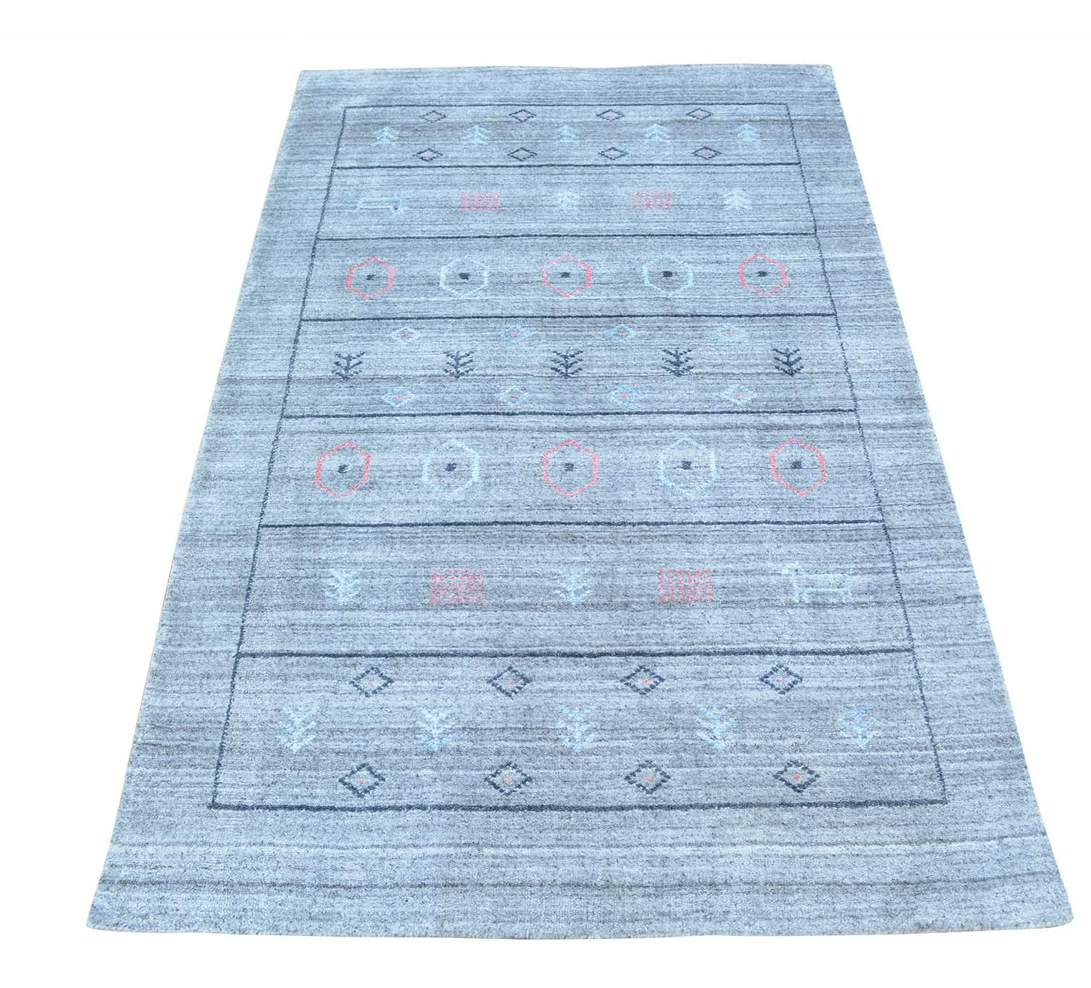 One-of-a-Kind Brienne Hand-Knotted Blue Area Rug Rug Size: Rectangle 3'1