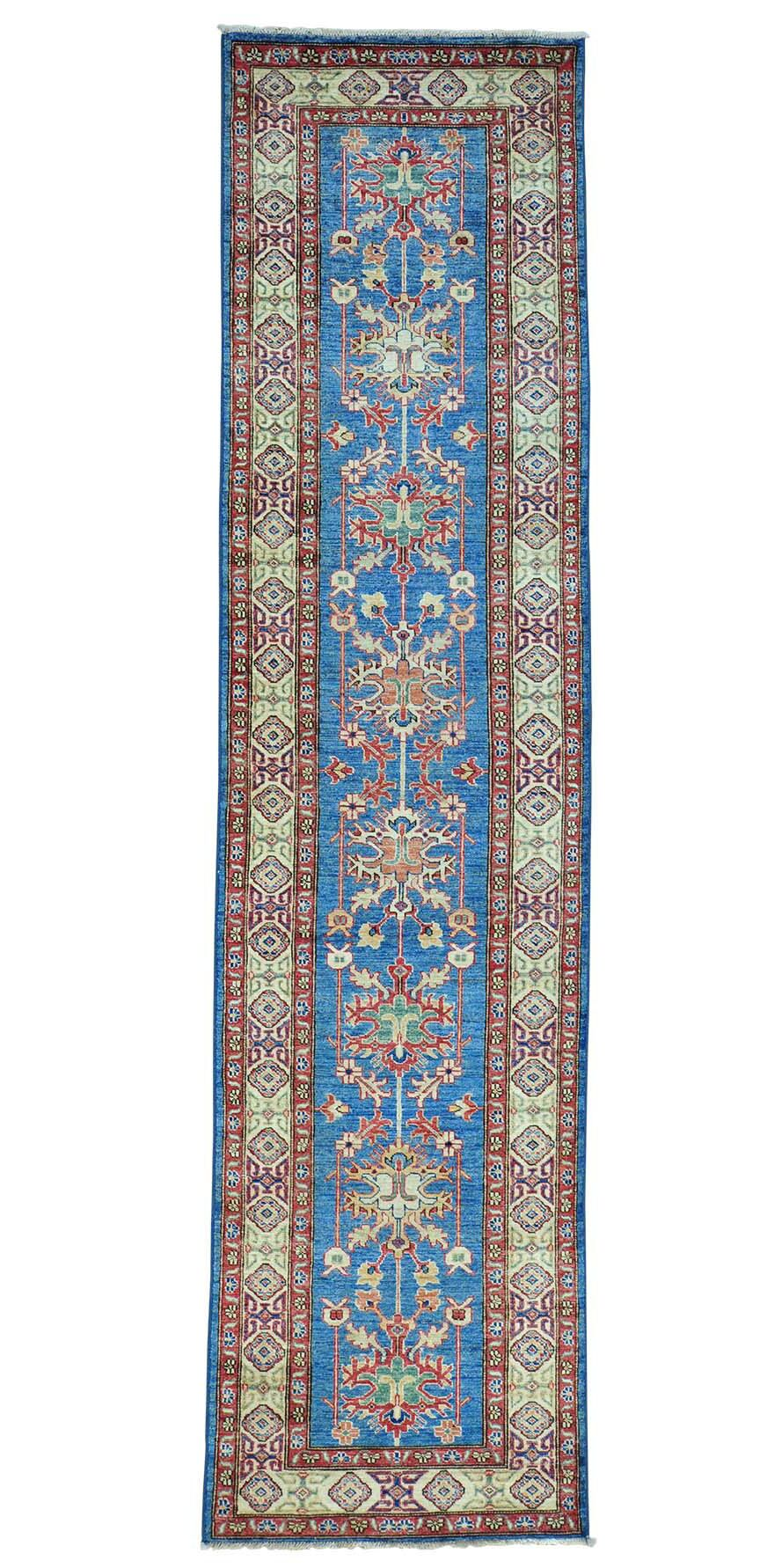 One-of-a-Kind Latimore Overdyed Worn Hand-Knotted Sku Blue/Red Area Rug