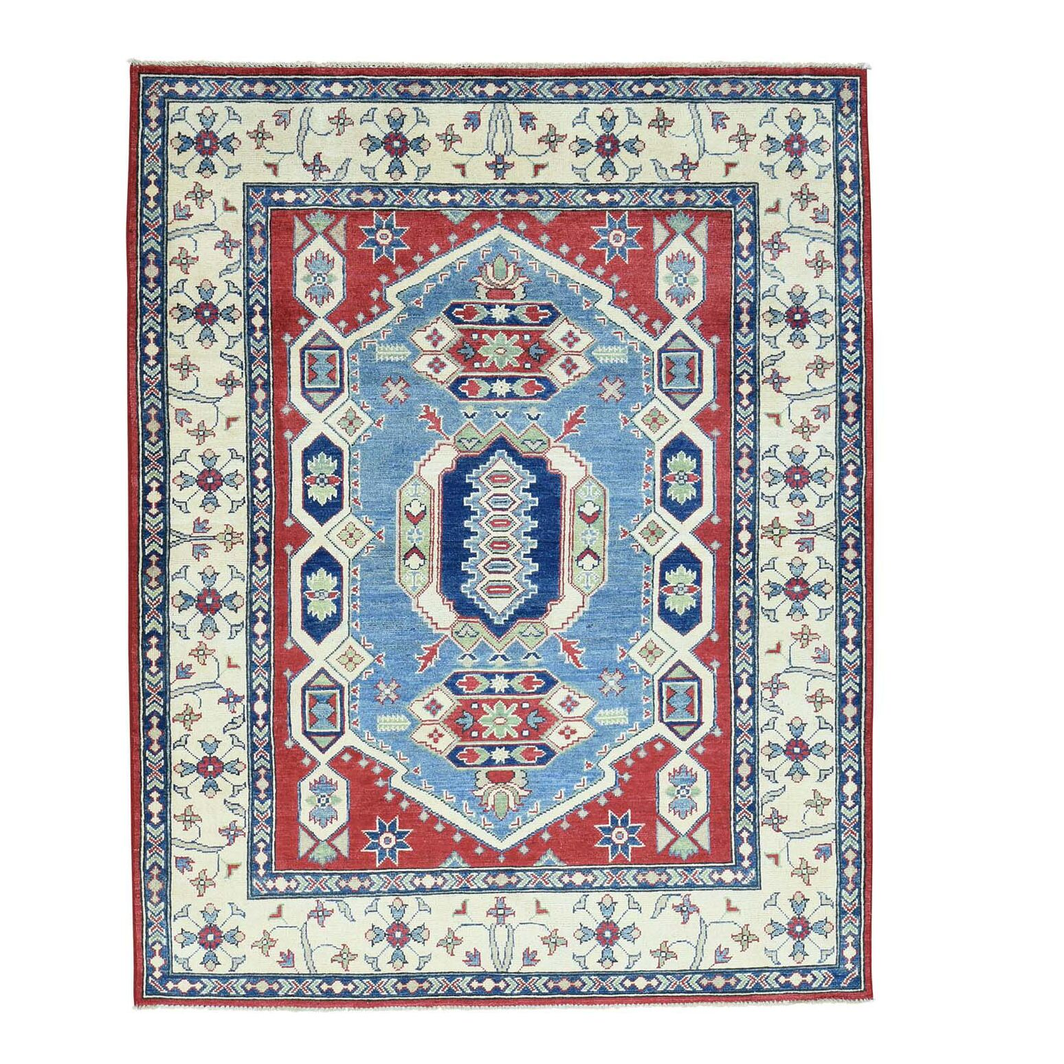One-of-a-Kind Tillotson Hand-Knotted Denim Blue Area Rug