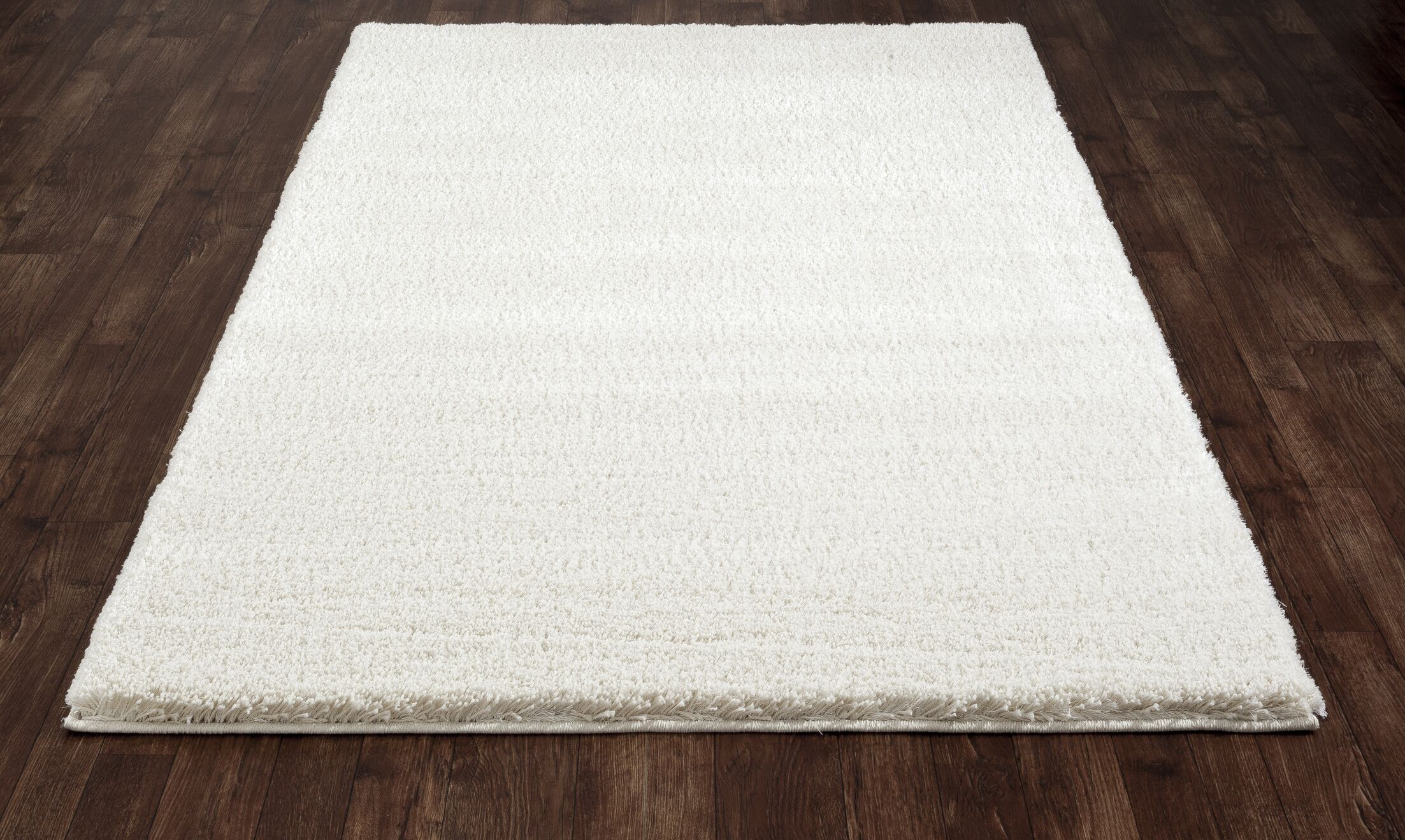 Hickey Plush Pile Shag White Area Rug Rug Size: Rectangle 3'4