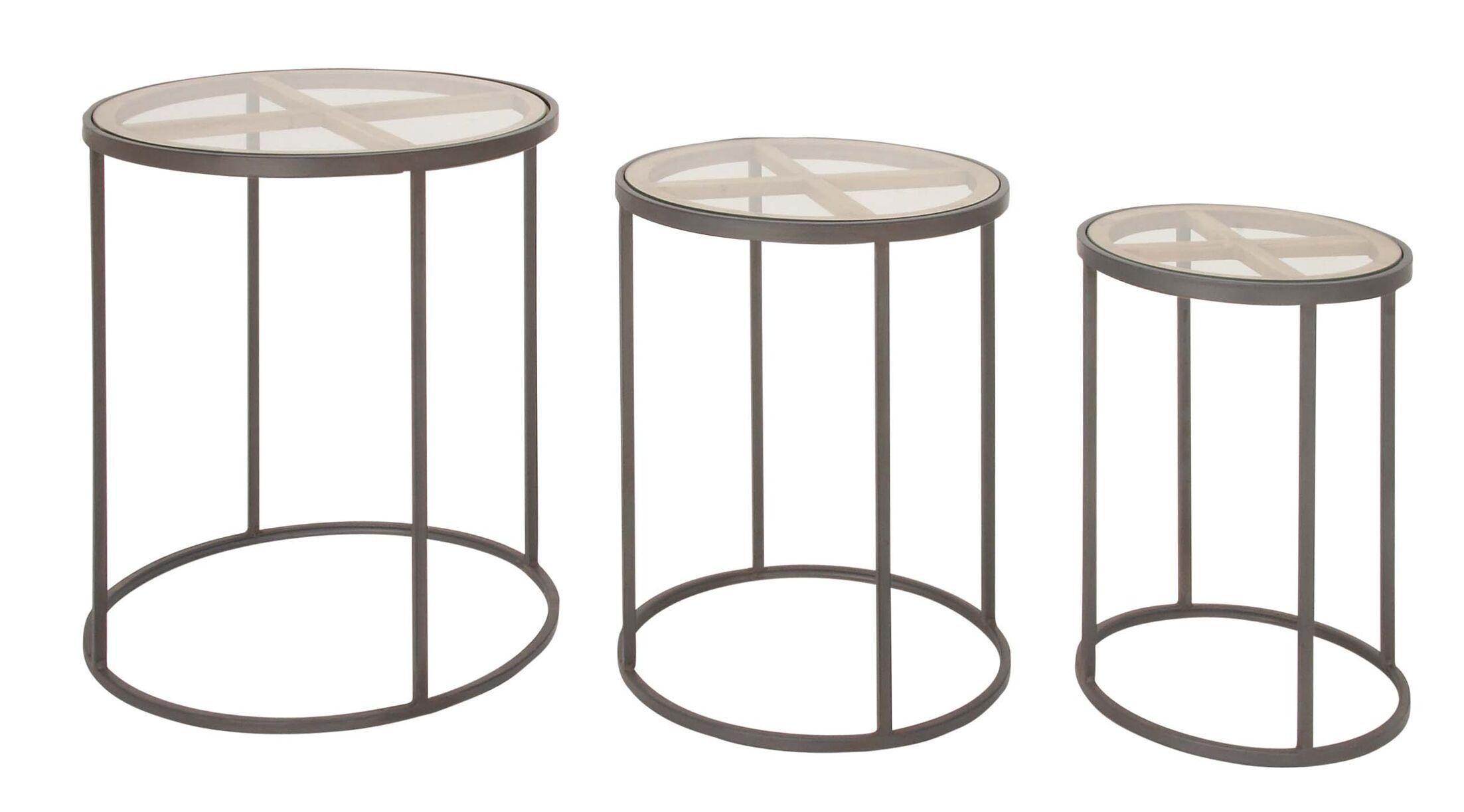 Orianna Contemporary 3 Piece Nesting Tables