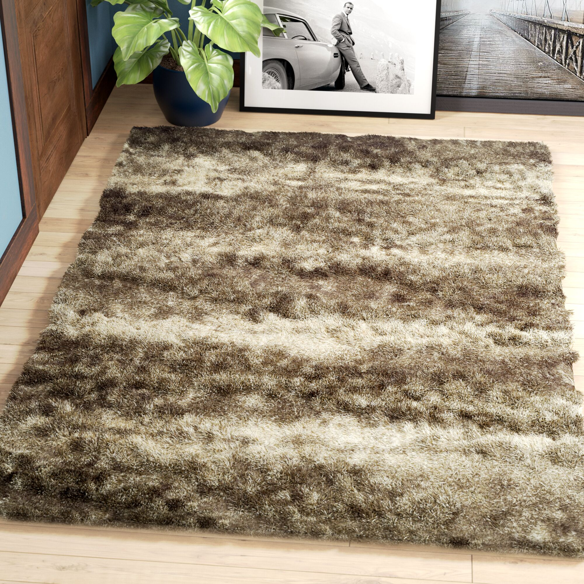 Zhora Taupe Area Rug Rug Size: Rectangle 5'3
