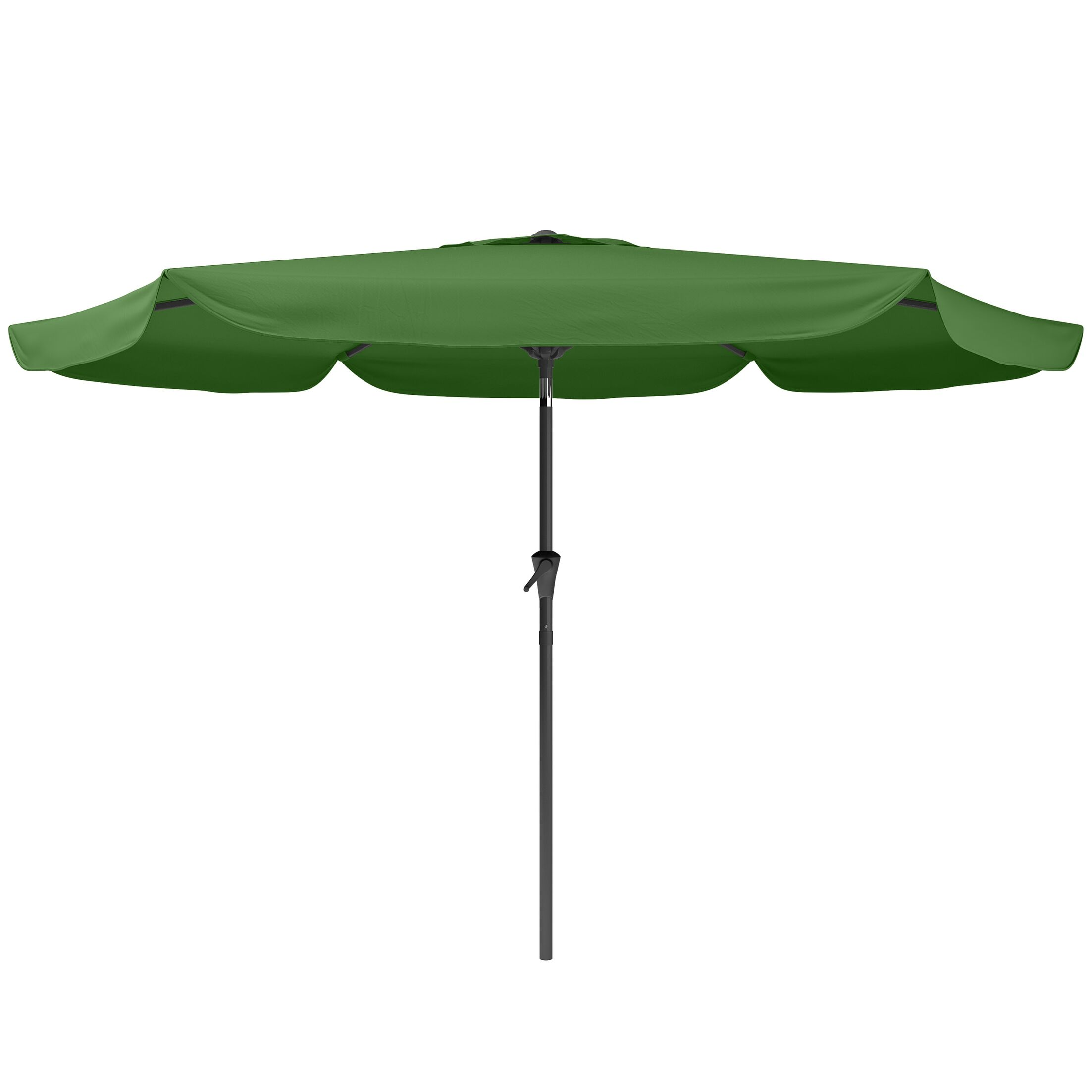 Corliving 10' Market Umbrella Fabric Color: Forest Green