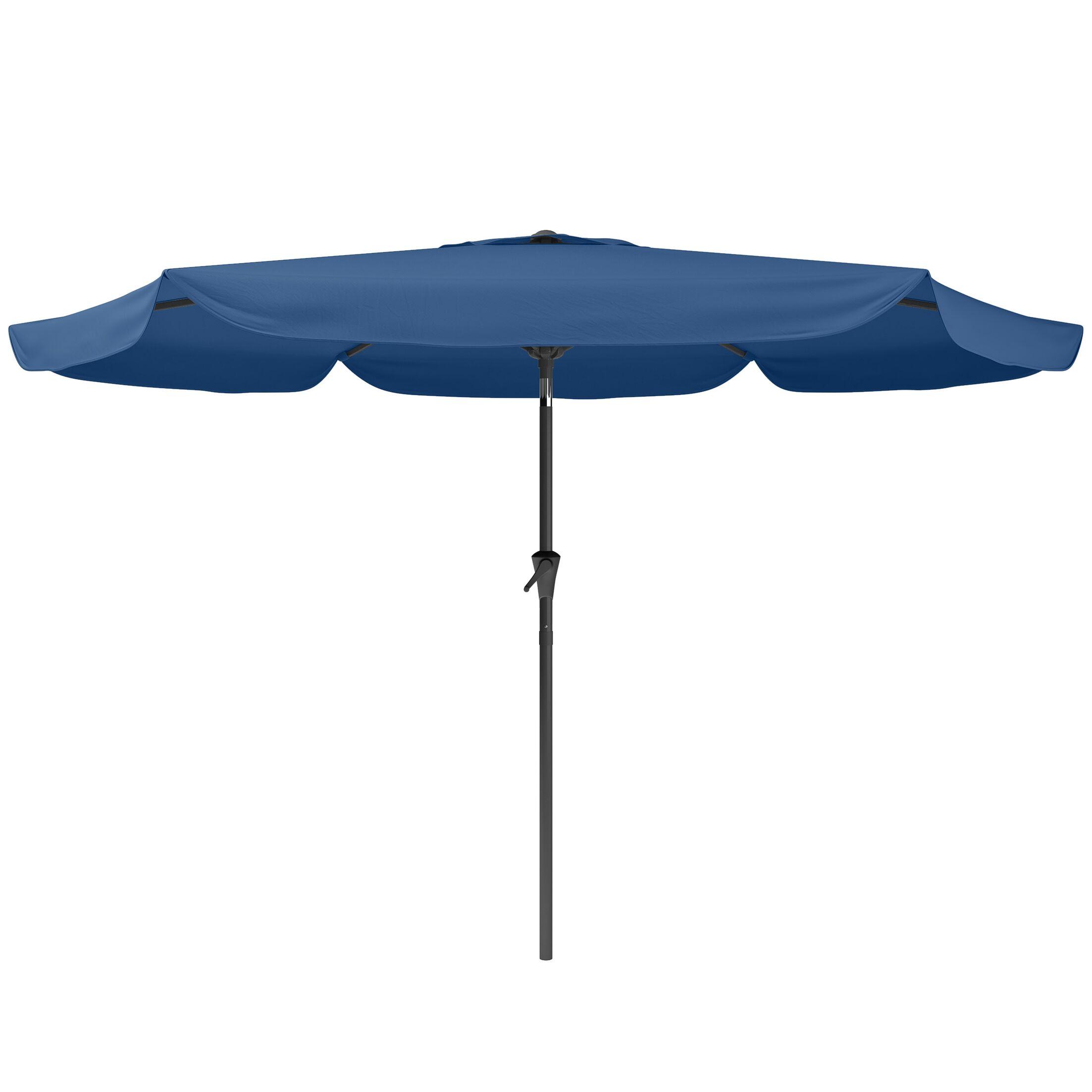 Corliving 10' Market Umbrella Fabric Color: Cobalt Blue