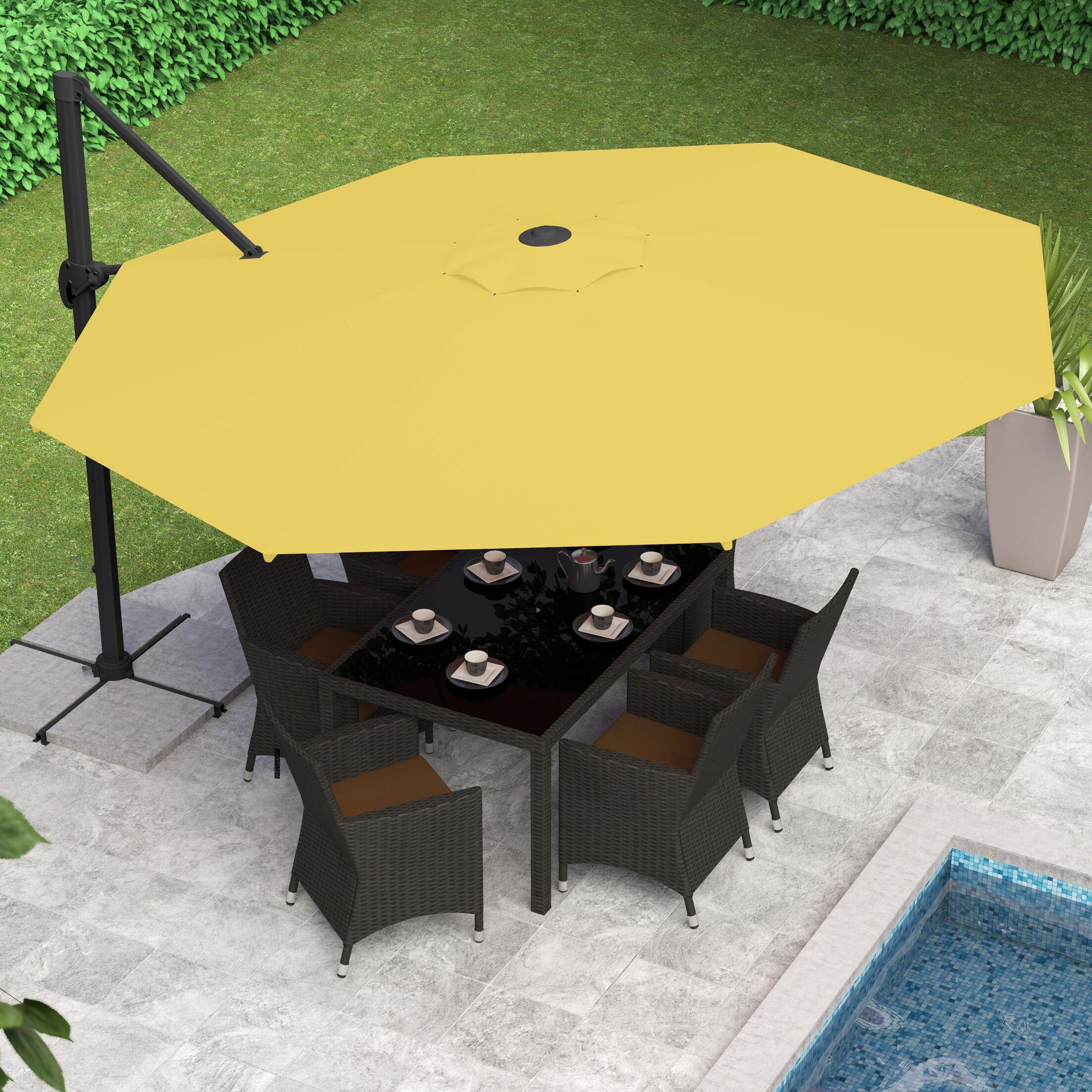 Gribble 11' Cantilever Umbrella Fabric Color: Yellow