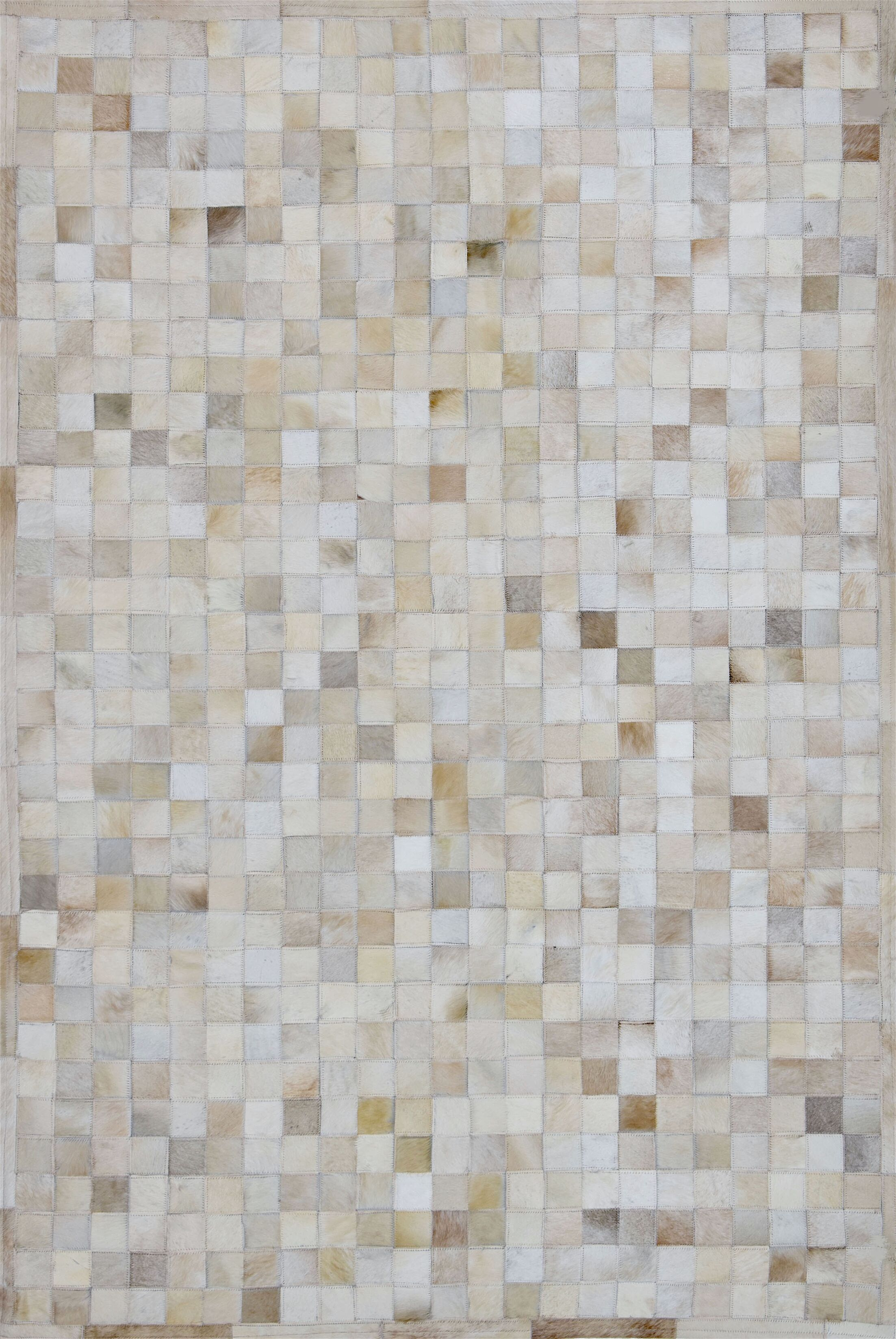 One-of-a-Kind Klahr Hand-Woven Cowhide Off White Area Rug Rug Size: Rectangle 5' x 8'