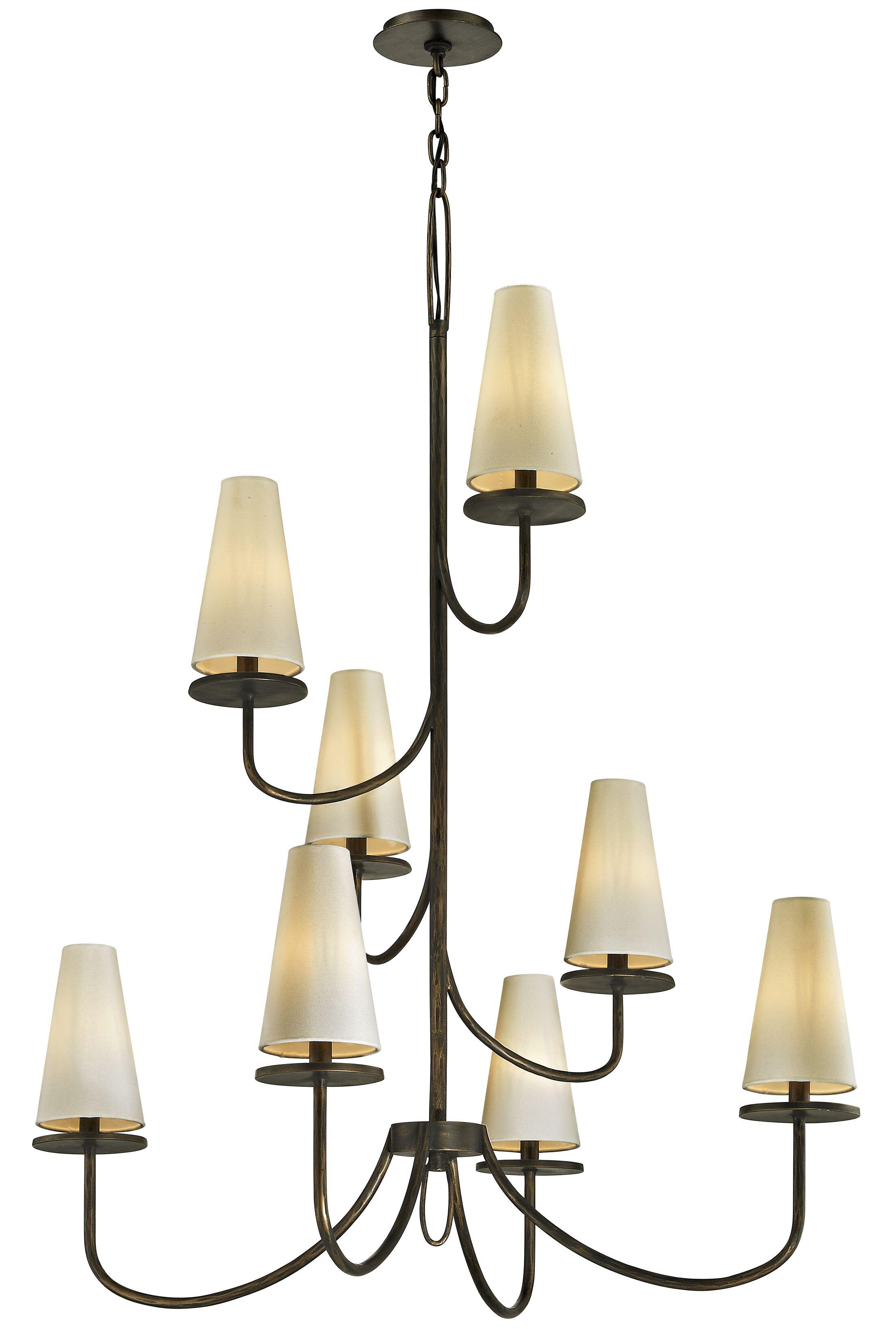 Oatman 8-Light Shaded Chandelier Finish: Bronze