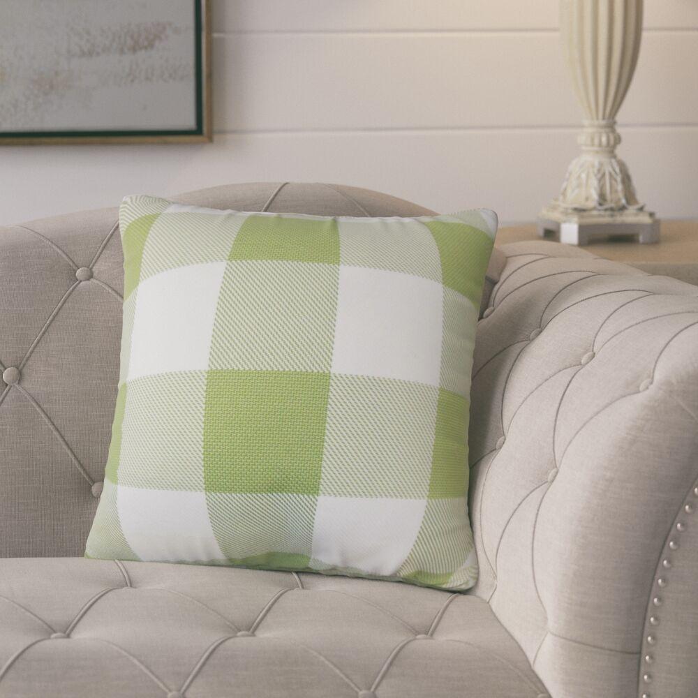 Ronzi Plaid Down Filled 100% Cotton Throw Pillow Size: 24
