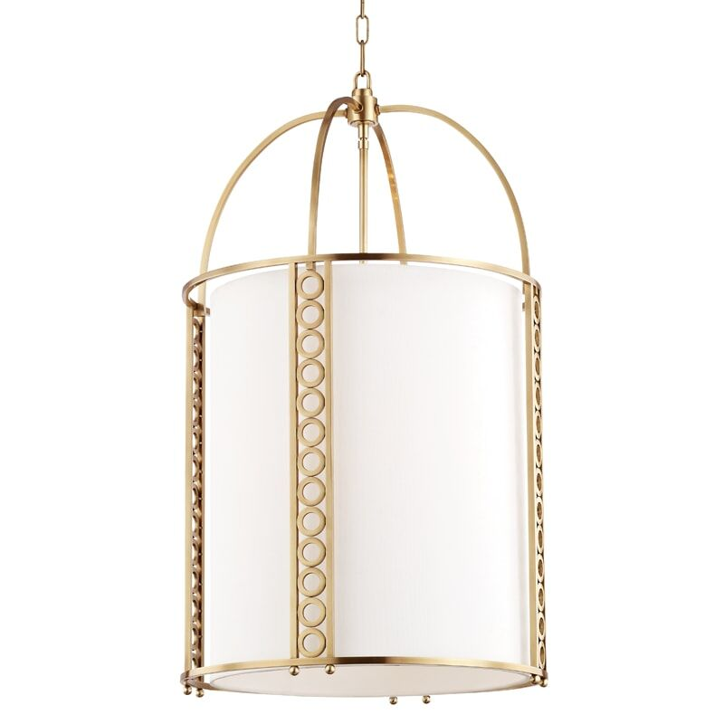 Legros 8-Light Lantern Pendant Finish: Polished Nickel, Size: 34.25