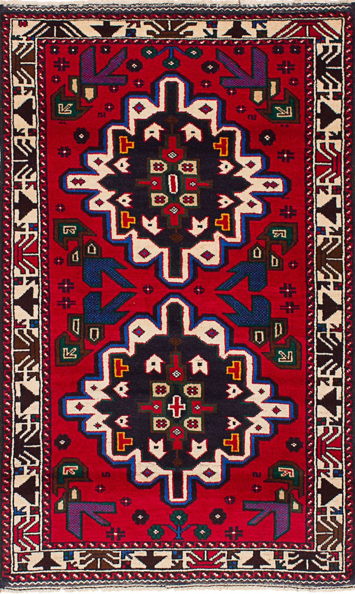 One-of-a-Kind Doan Hand-Knotted Wool Red Area Rug