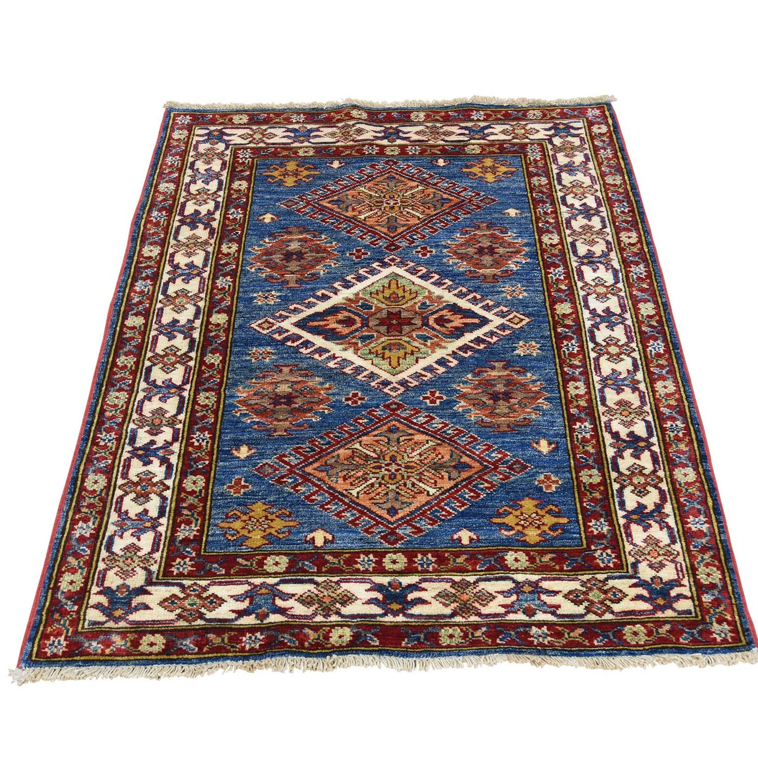 One-of-a-Kind Tillotson Super Hand-Knotted Denim Blue/Brown Area Rug Rug Size: Rectangle 2'10