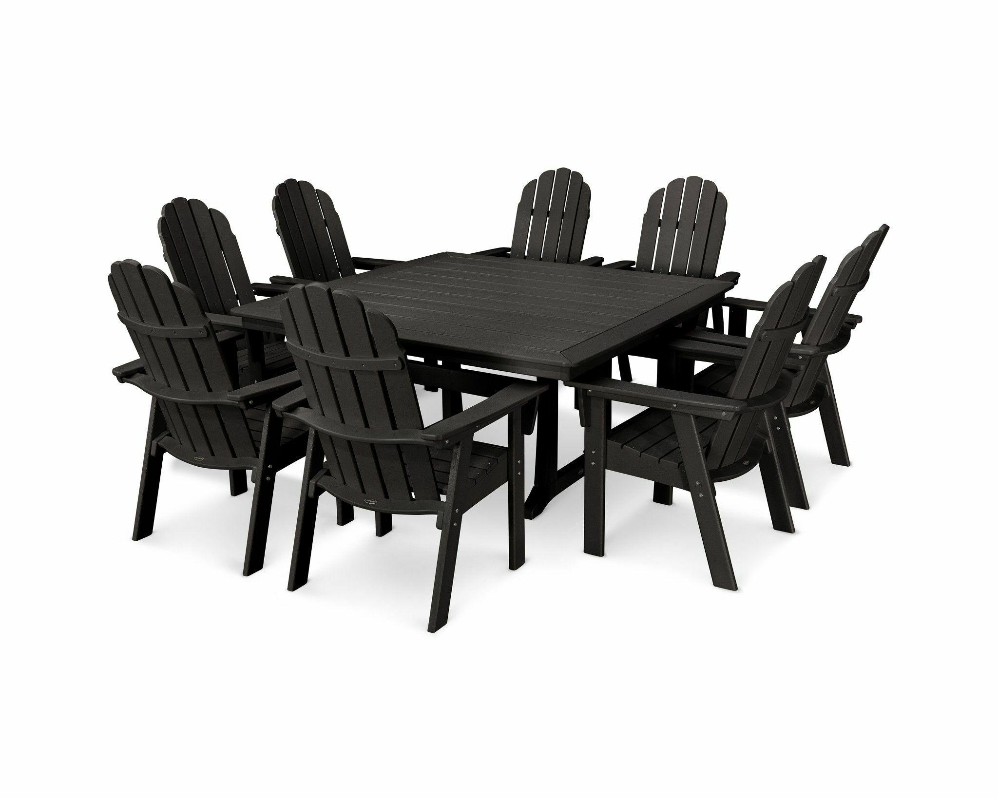 Dining Table Sets Vineyard Adirondack Nautical Trestle 9 Piece Dining Set