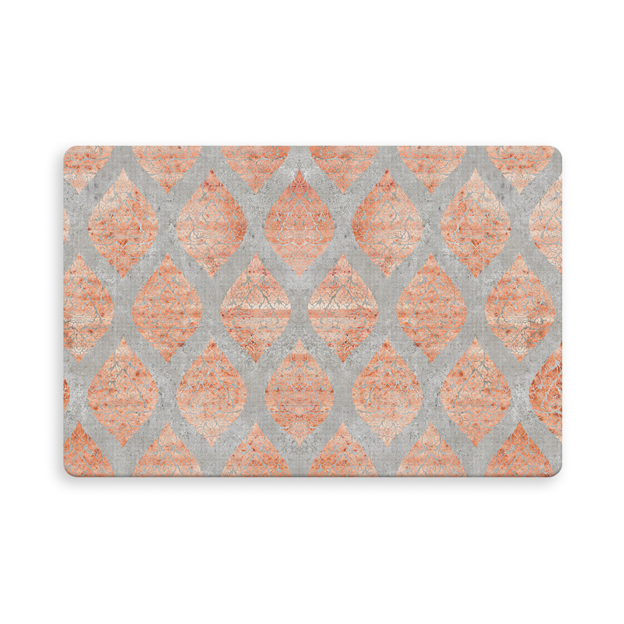 Reichenbach Indoor/Outdoor Doormat Color: Orange/Gray, Mat Size: Rectangle 2'6