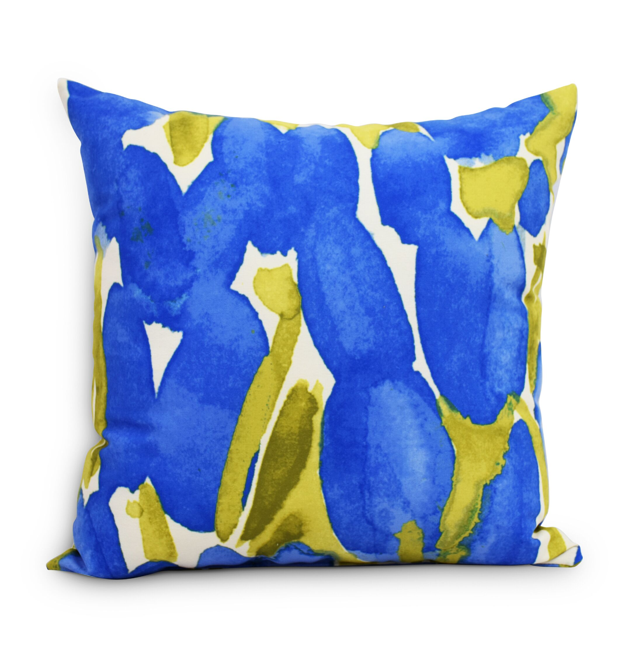 Quast Tulip Throw Pillow Color: Blue, Size: Medium, Location: Indoor