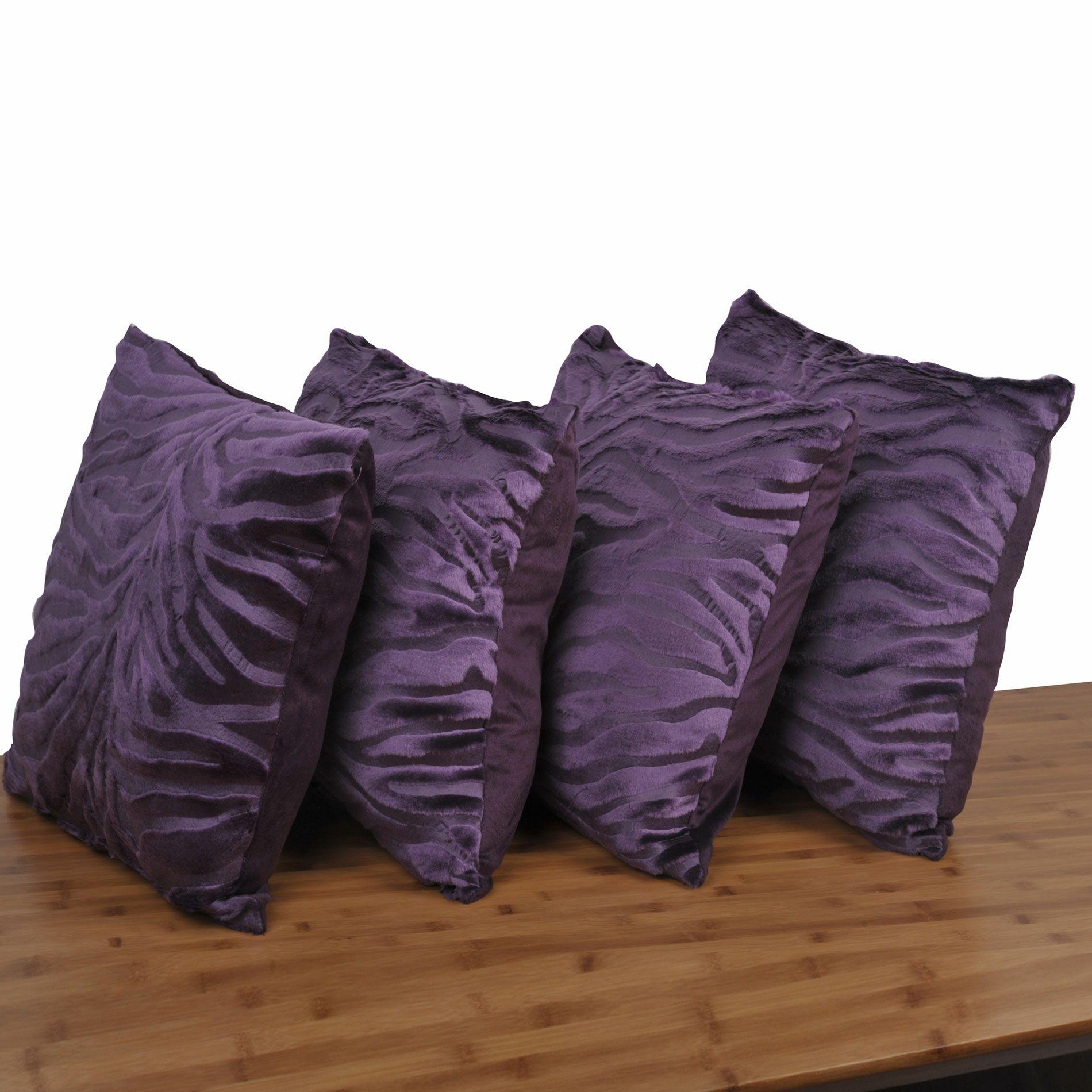 Mullis Embossed Pillow Cover Color: Blackberry