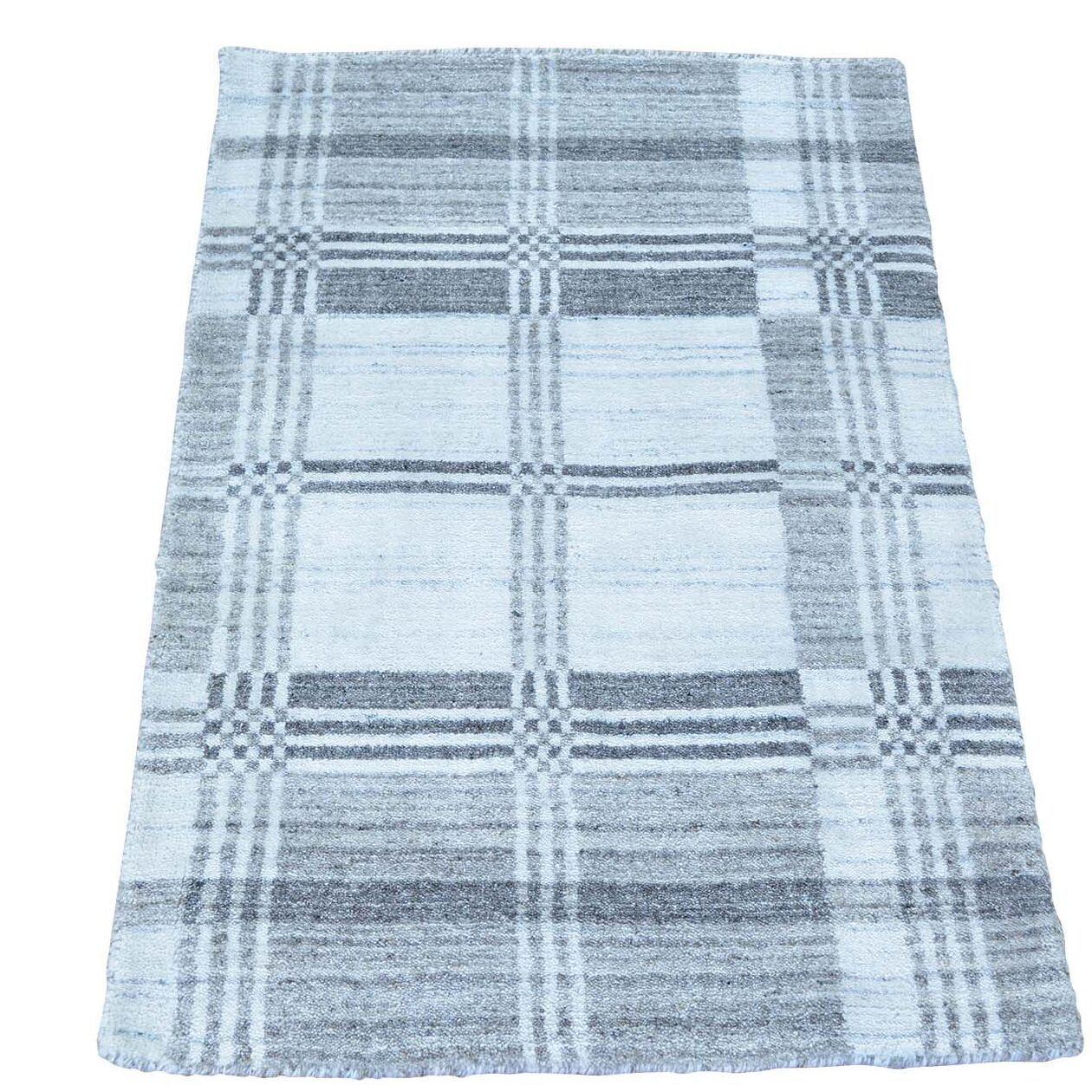 One-of-a-Kind Enriquez Hand-Knotted Gray Area Rug