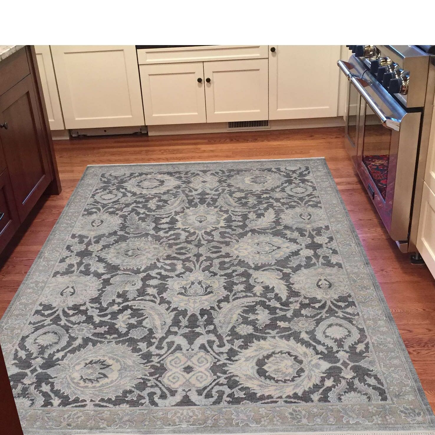 One-of-a-Kind Kennard Hand-Knotted Gray Area Rug