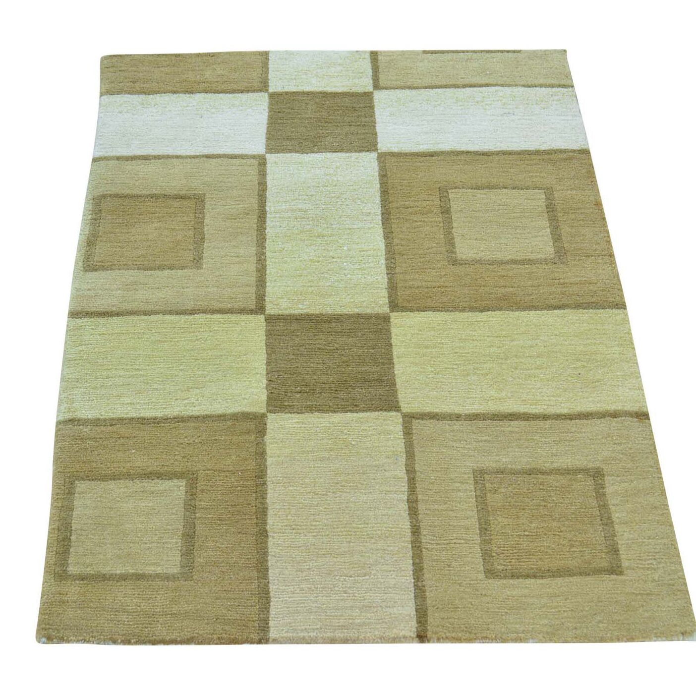 One-of-a-Kind Meghans Nepali Hand-Knotted Beige Area Rug
