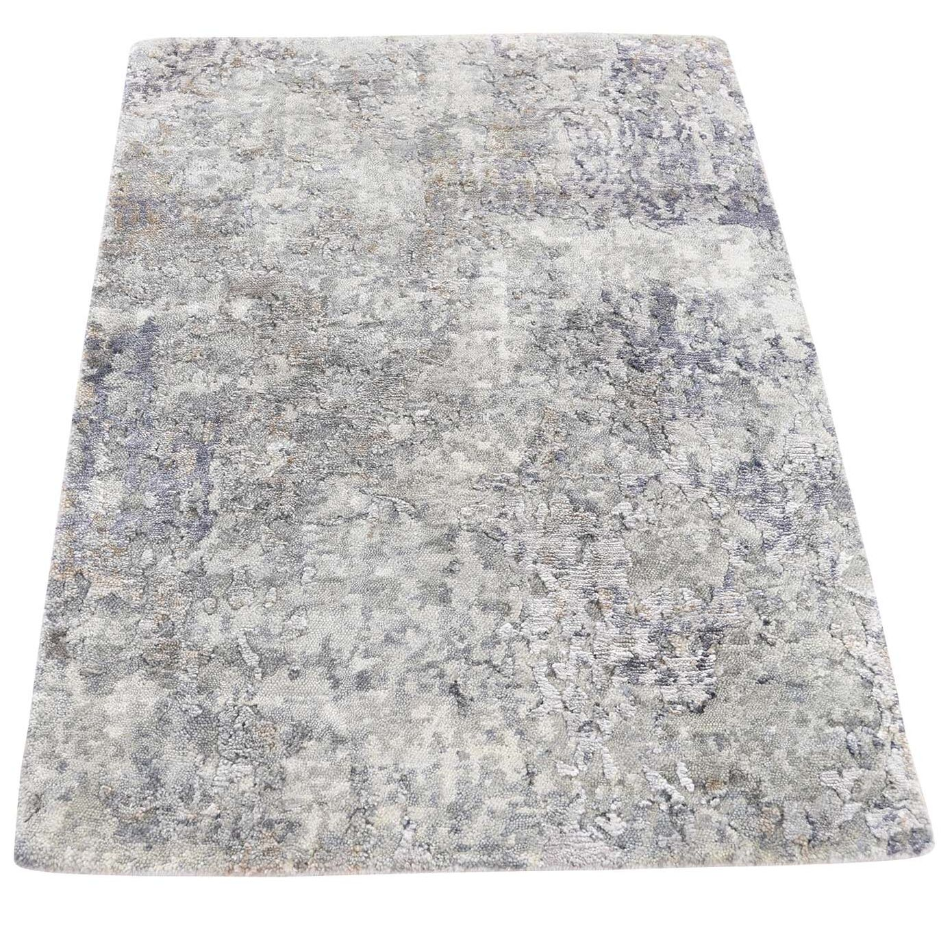 One-of-a-Kind Eddyville Hi-Lo Hand-Knotted Gray Area Rug