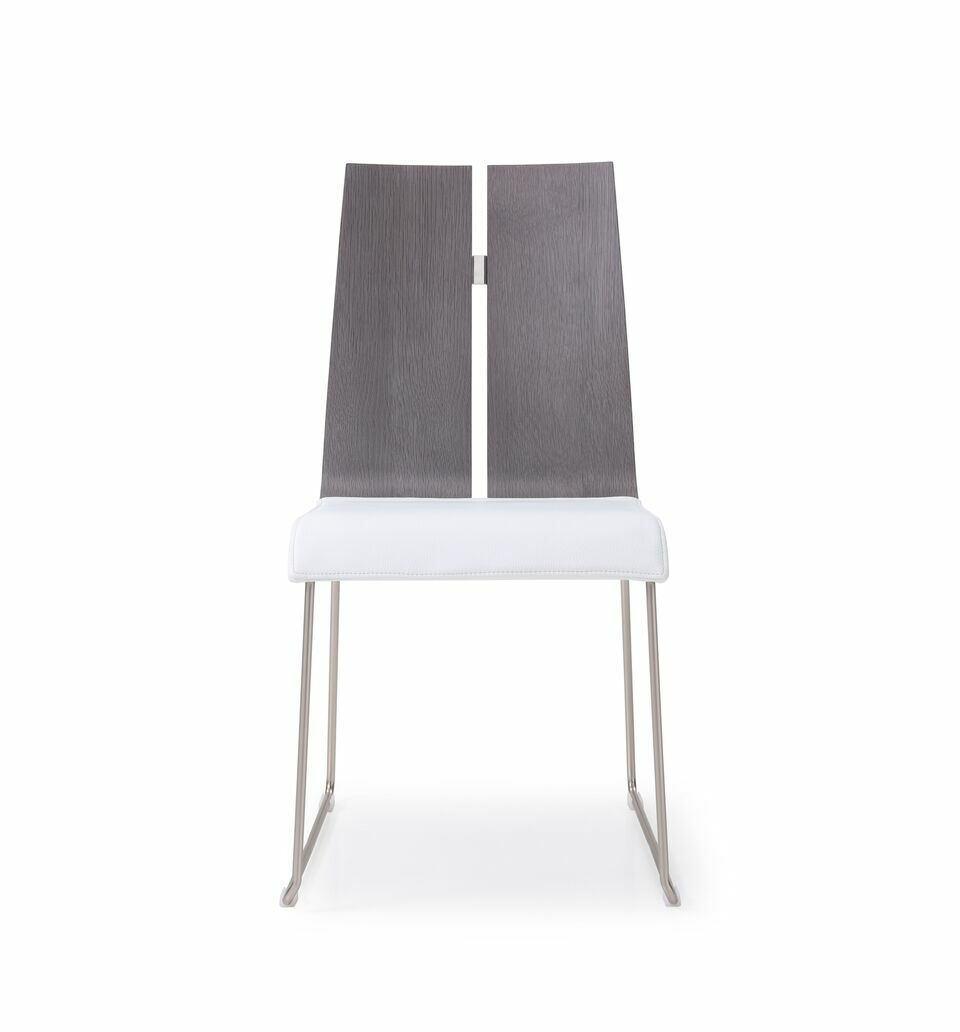 Lauren Dining Chair Upholstery Color: Gray/White