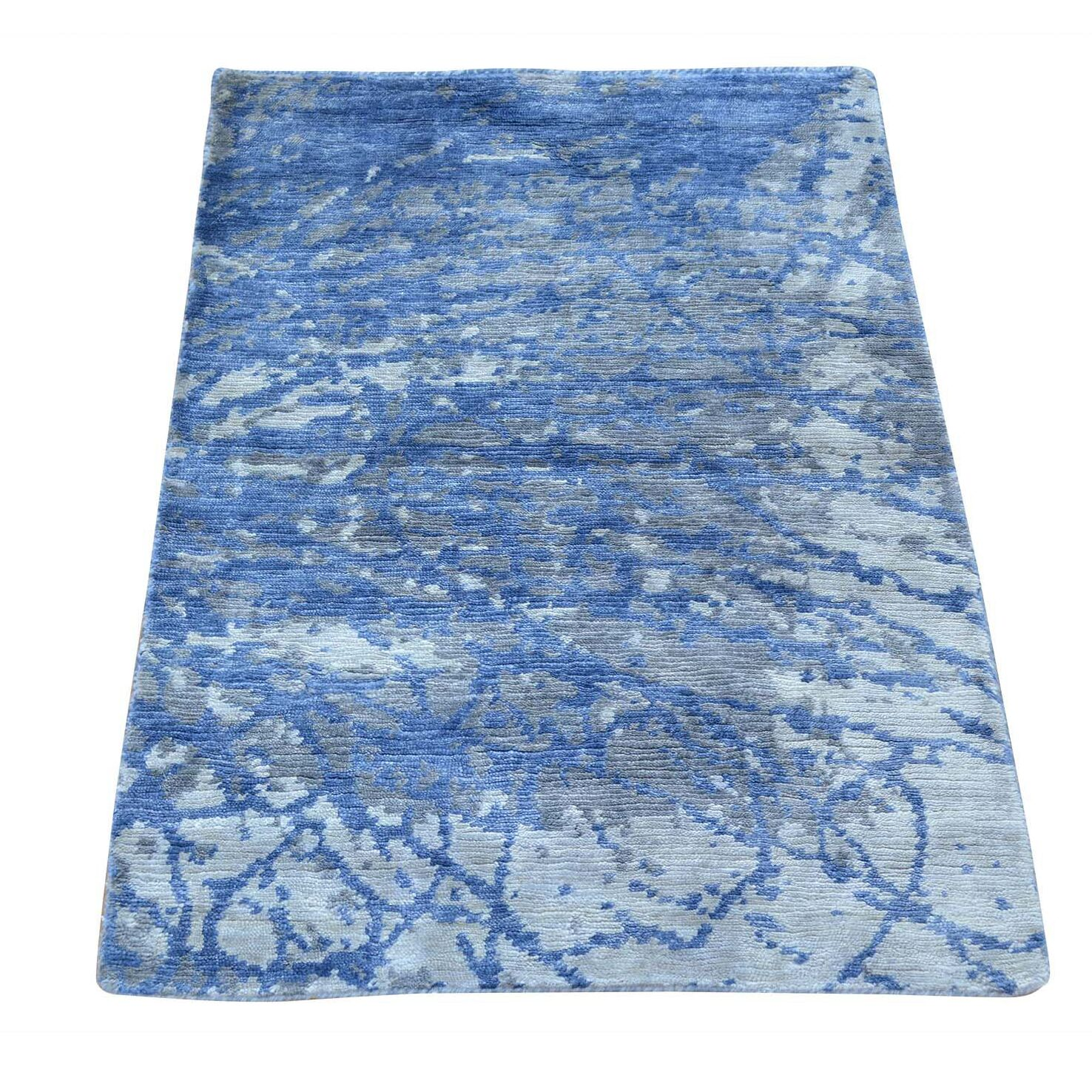 One-of-a-Kind Bannruod Hand-Knotted Blue Area Rug
