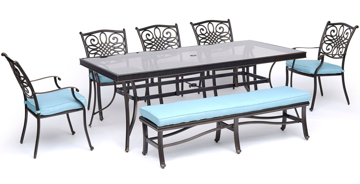 Lauritsen 7 Piece Dining Set with Cushions