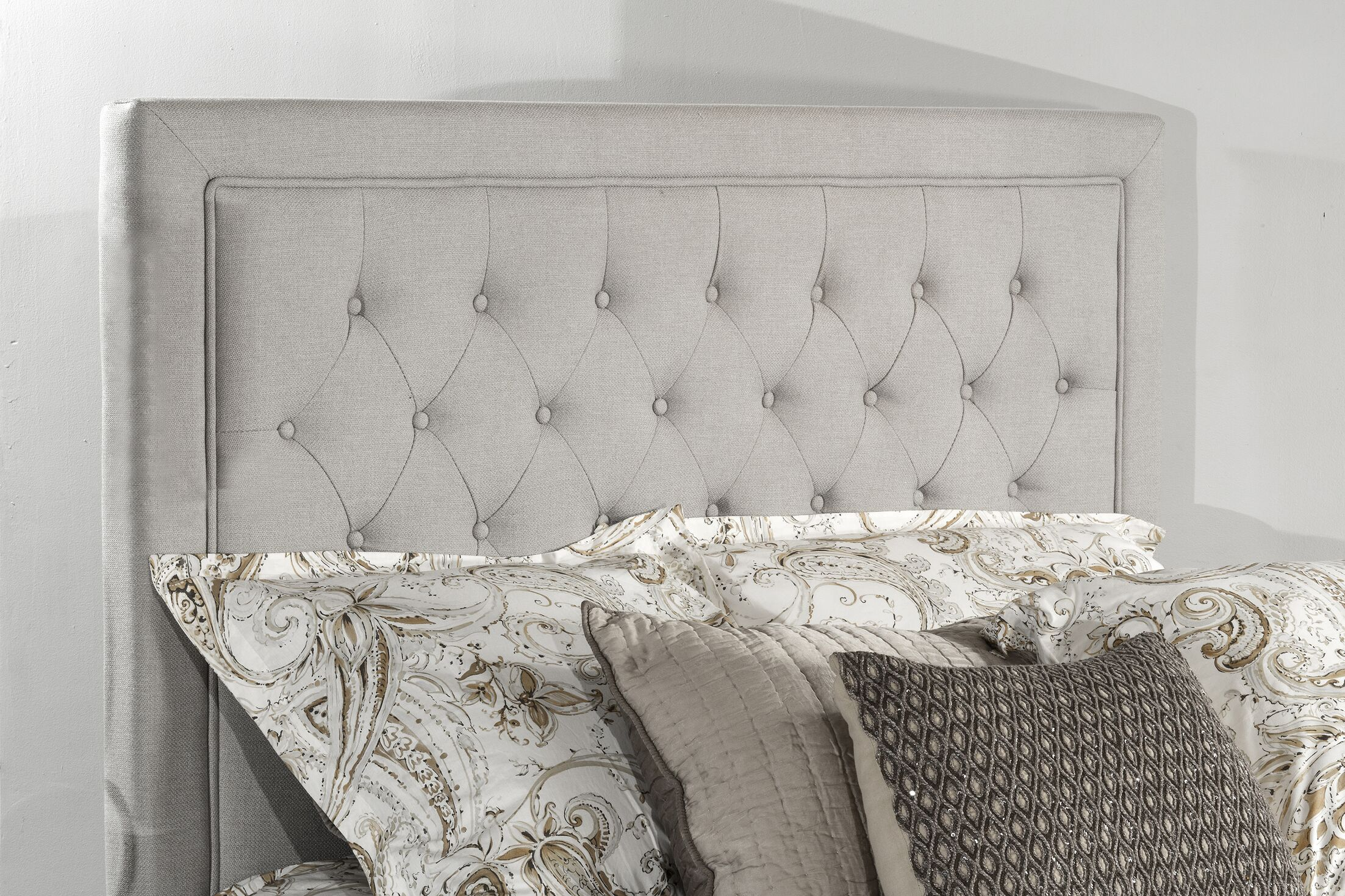 Dupuis Upholstered Panel Headboard Size: King