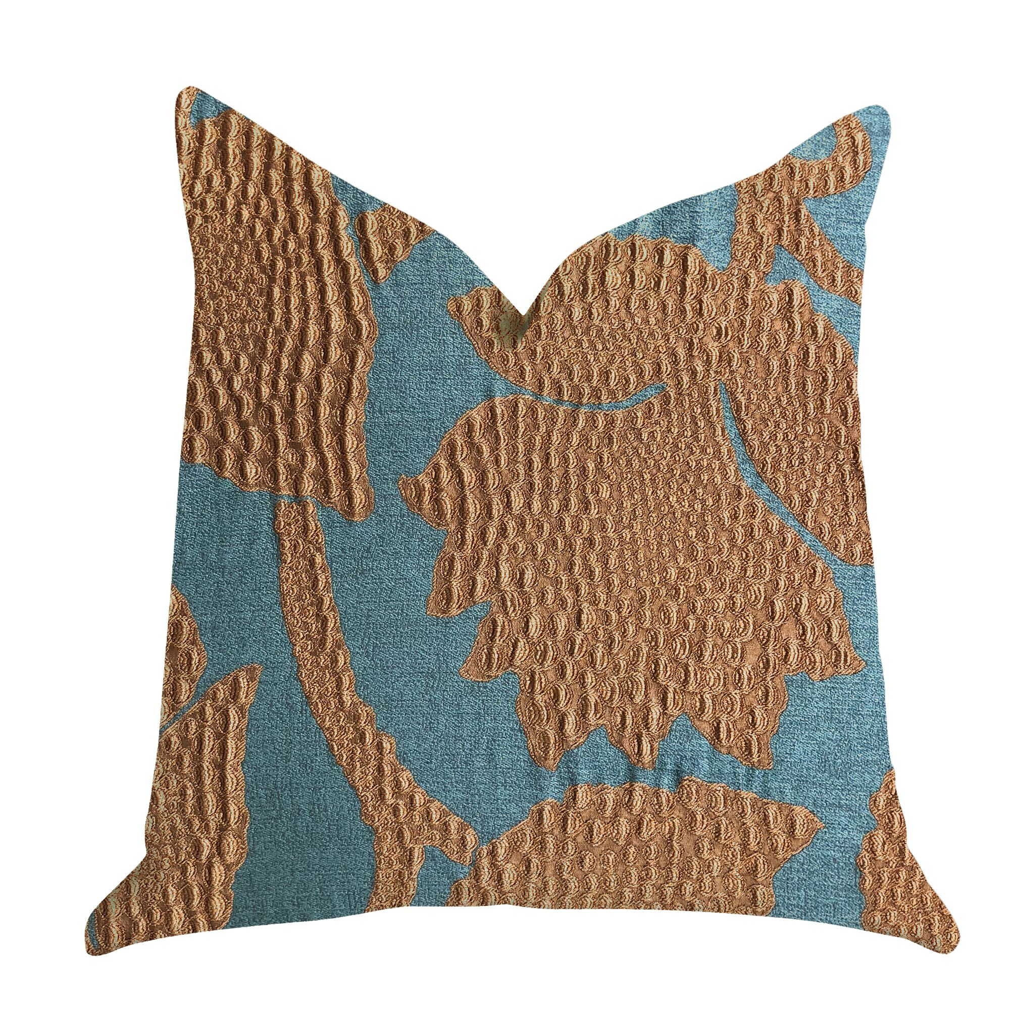Embellish your couch with this beautiful striking accent vine in green and gold luxury pillow . Features: -Handmade in the USA.-Double sided pillow.-Invisible zipper enclosure for a tailored look.-All seams are over-locked and stitched for a professio...